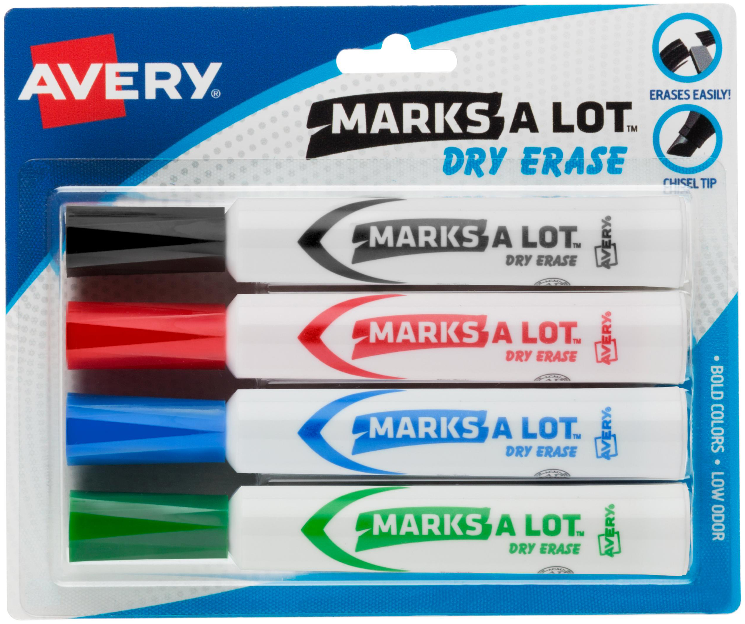 Avery® Marks A Lot Desk-Style Dry-Erase Markers 4pc
