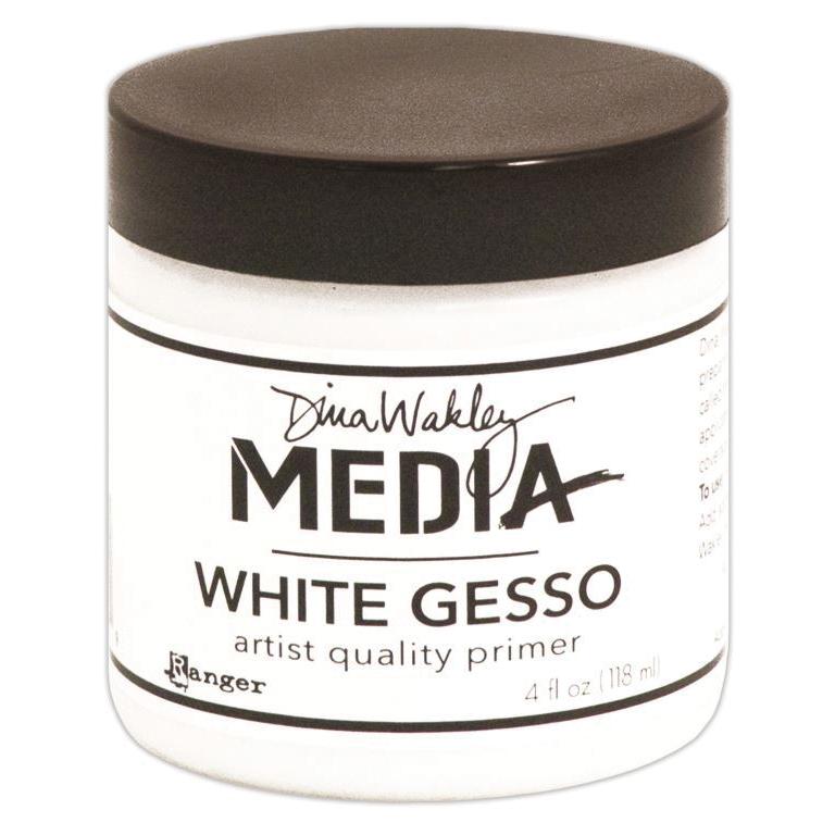 Dina Wakley Media Gesso 4oz Jar-White