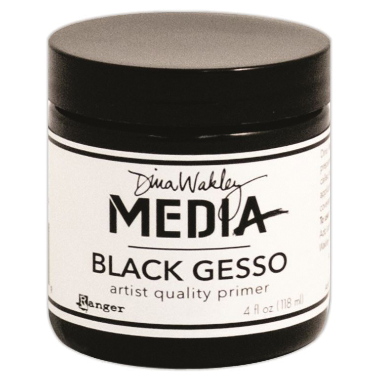 Dina Wakley Media Gesso 4oz Jar-Black