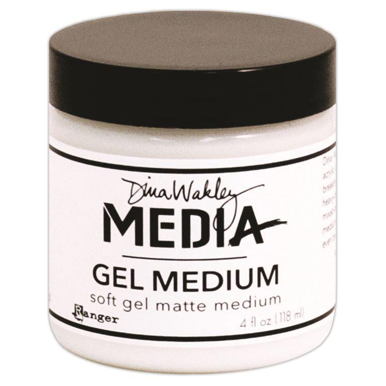 Dina Wakley Media Gel Medium 4oz Jar -Matte Finish
