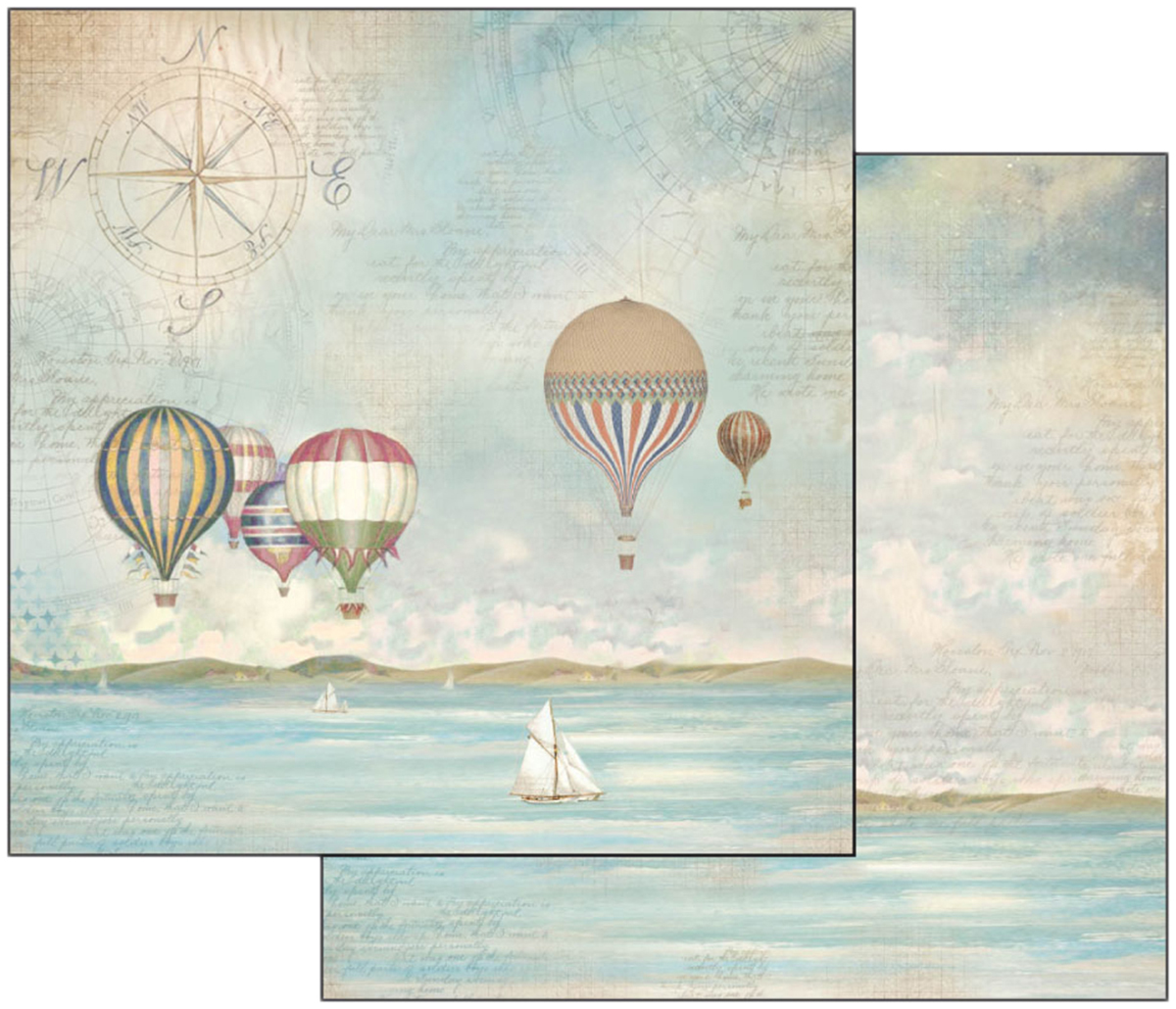 Stamperia Double-Sided Cardstock 12X12-Sea Land Balloons