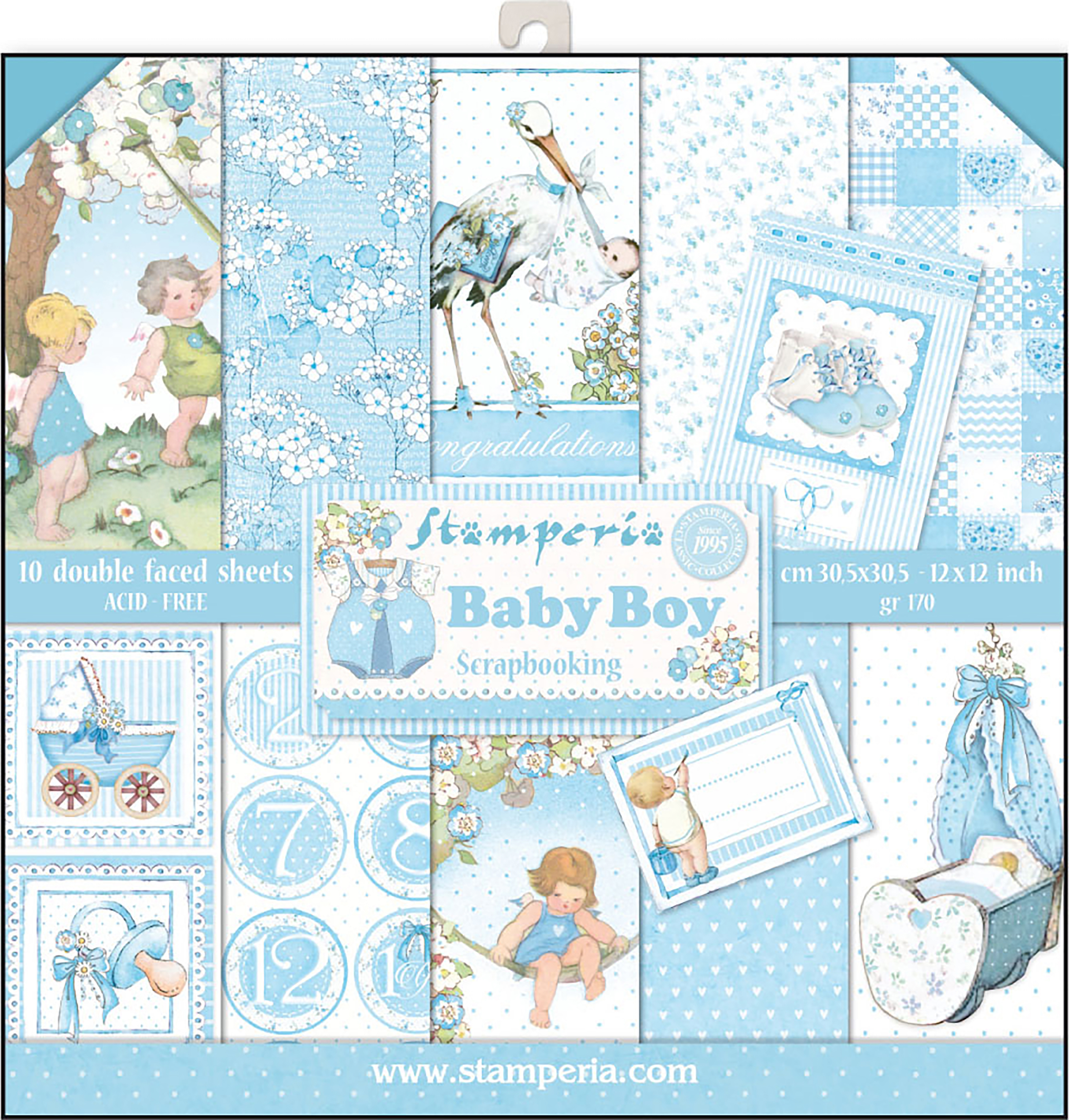 Stamperia - Baby Boy Collection - 12x12 Paper Pack