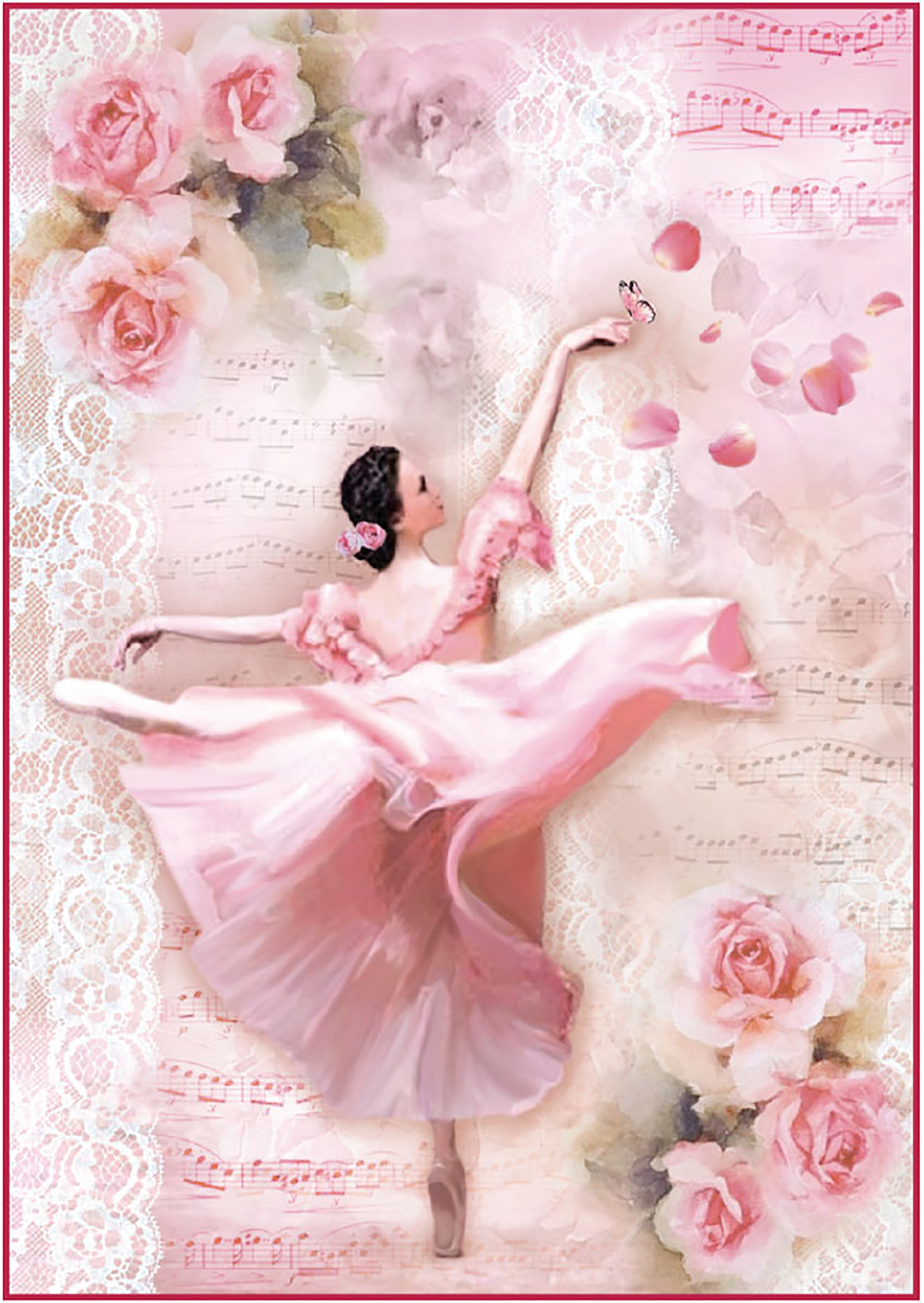 Rice Paper Dancer w/Petals