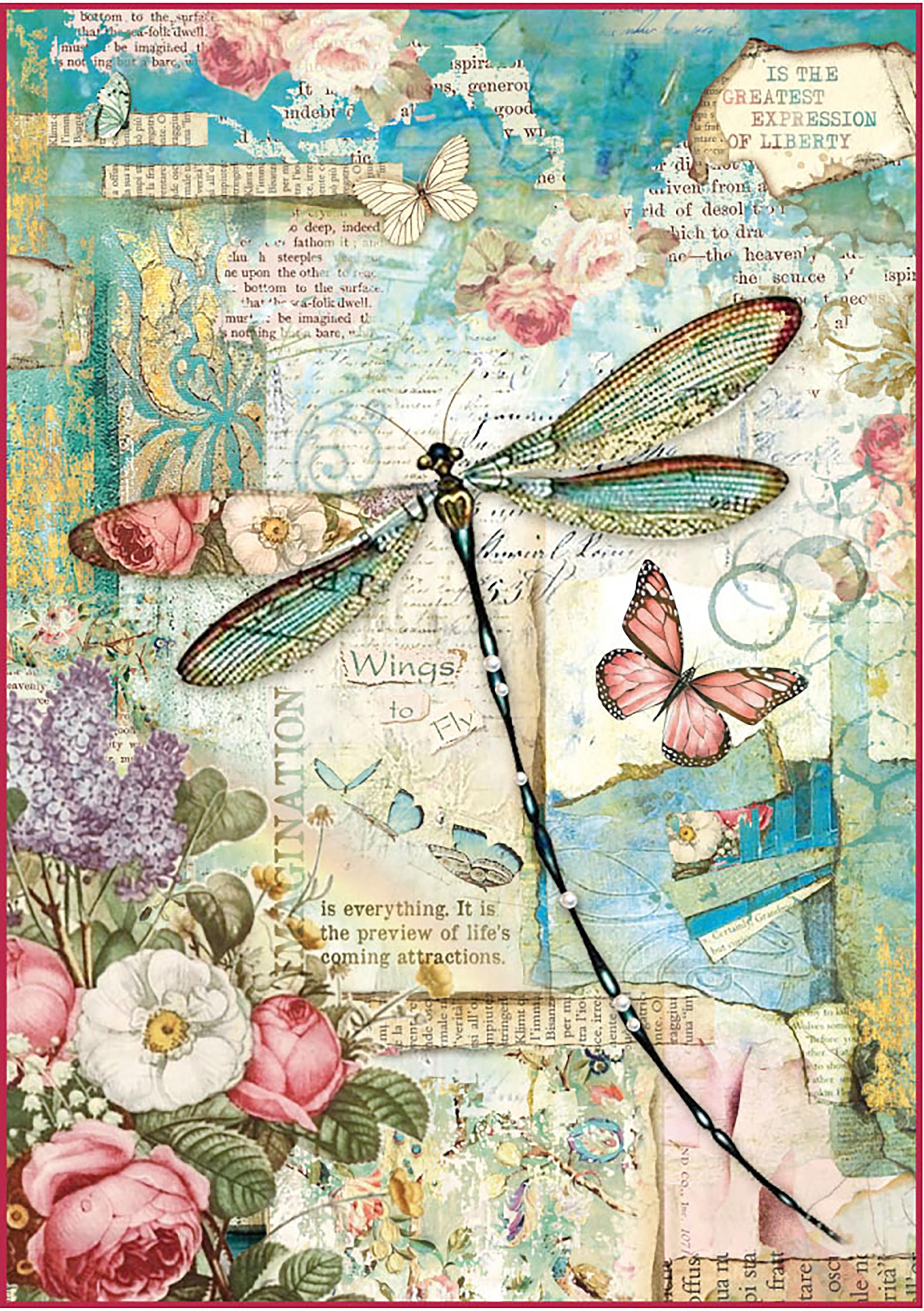 Rice Paper Wonderland Dragonfly