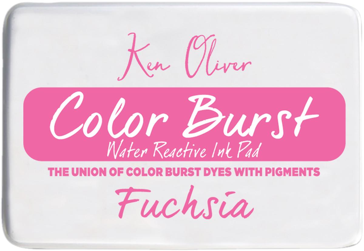 Ken Oliver Color Burst 3.75X2.5 Stamp Pad-Fuchsia