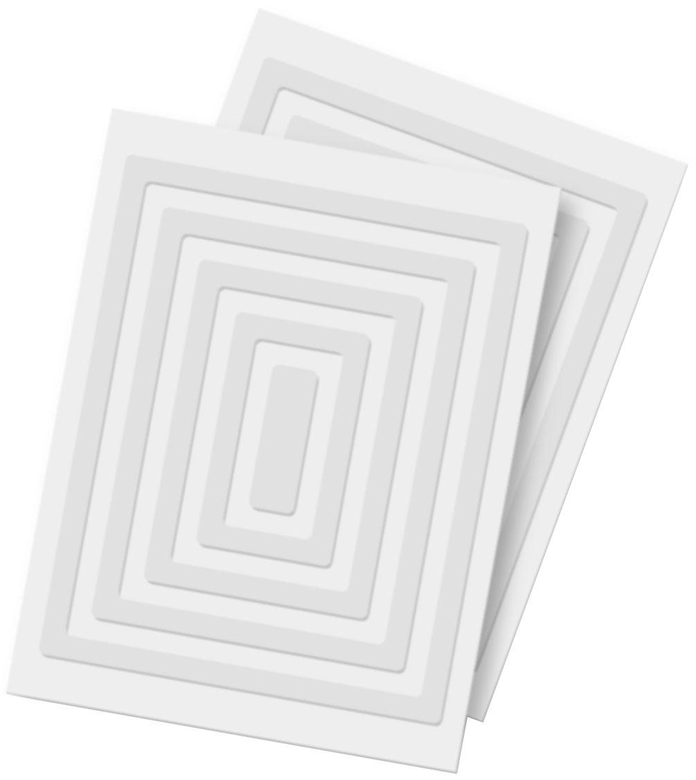 Scrapbook Adhesives cadres en mousse 3D double-face - 20 pi?ces - Blanc ? 3D Foam Frames