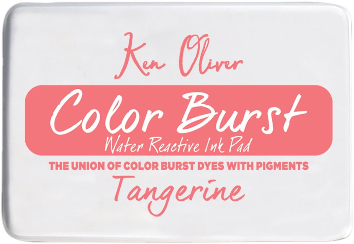 Ken Oliver Color Burst 3.75X2.5 Stamp Pad-Tangerine
