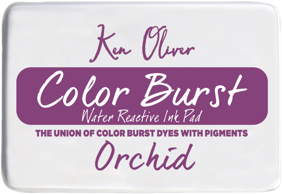 Ken Oliver Color Burst 3.75X2.5 Stamp Pad-Orchid