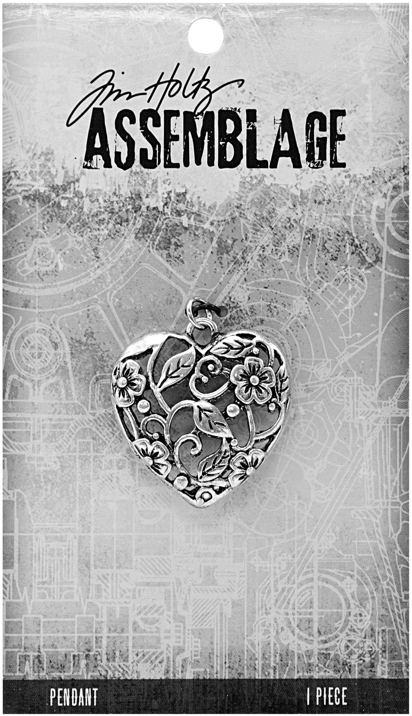 Tim Holtz Assemblage Pendant  -Ornate Heart