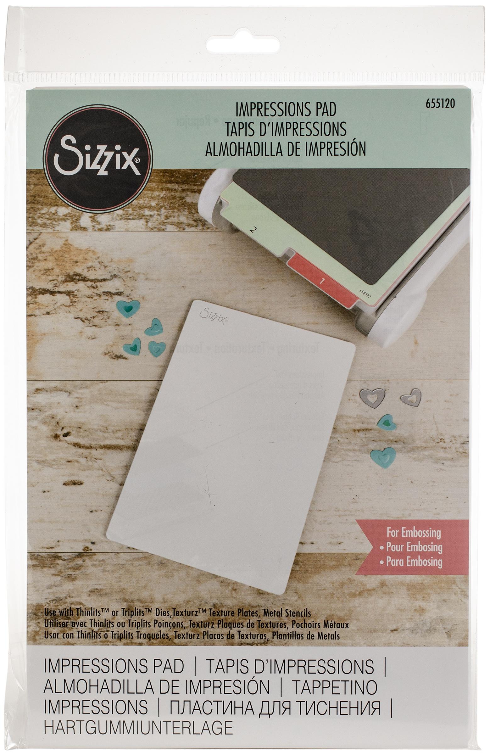 Sizzix BIGkick/Big Shot/Vagabond Texturz Impressions Pad-8.875X5.875X.125