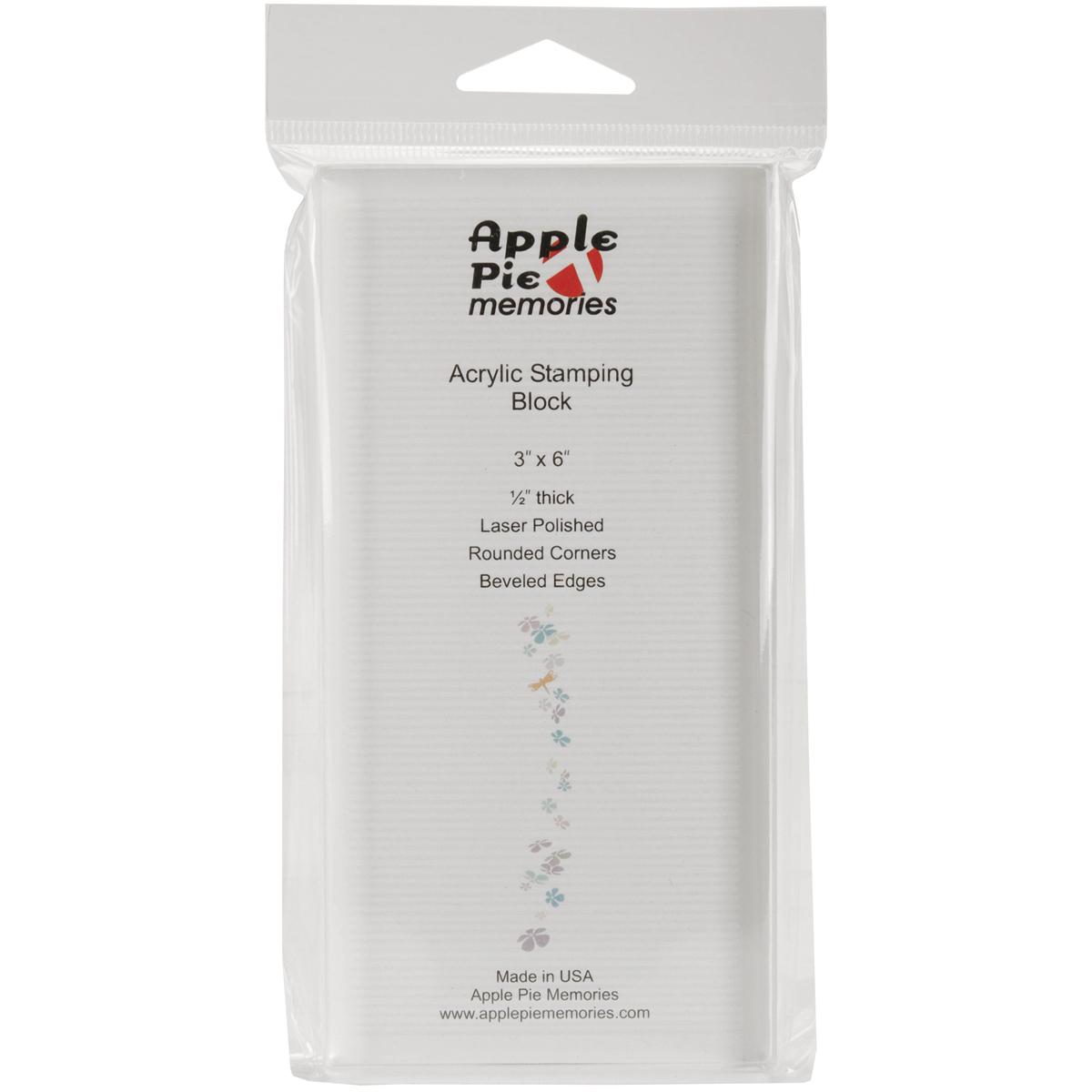 Apple Pie Memories Acrylic Stamp Block-3X6X.5