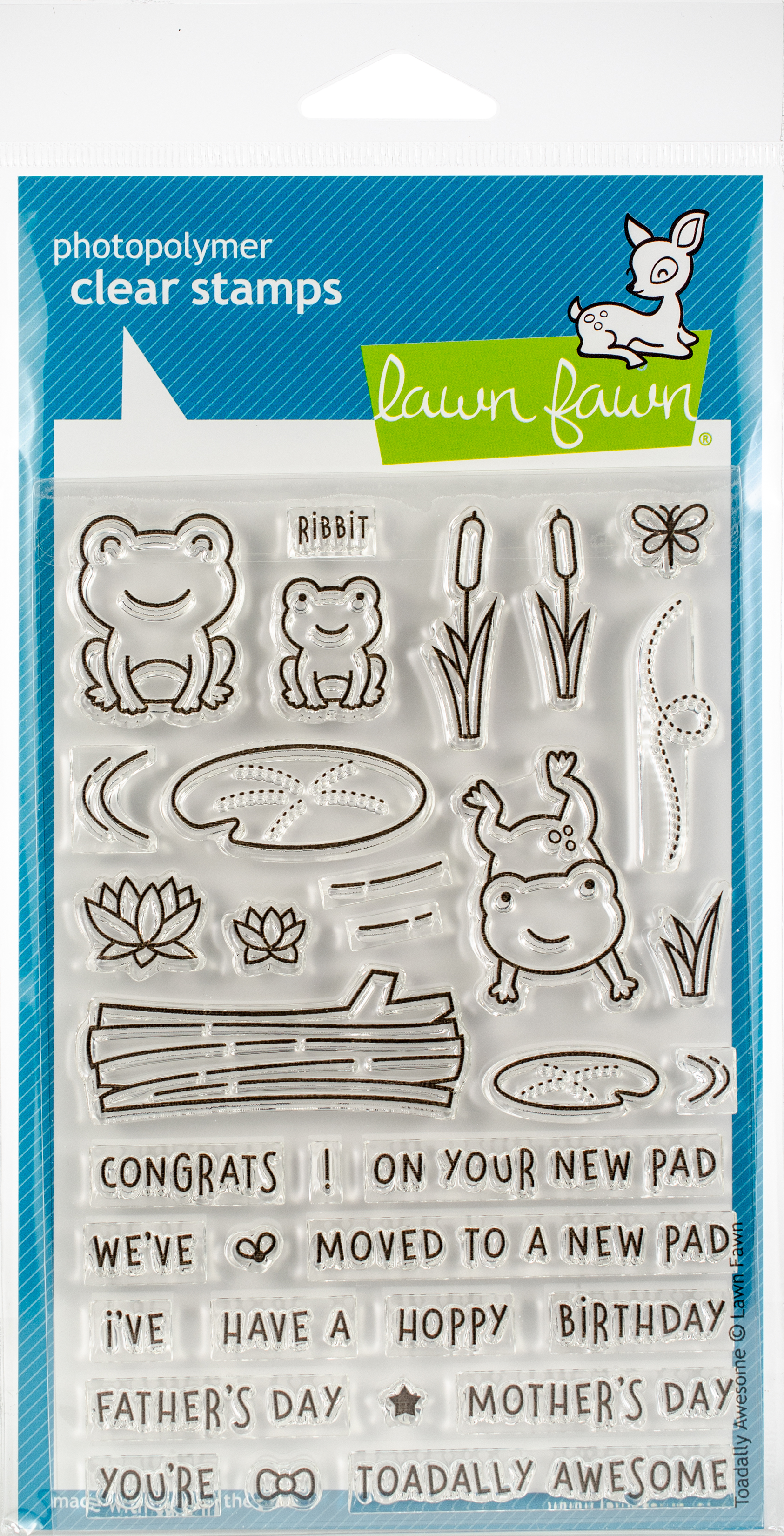 Lawn Fawn Clear Stamps 4X6-Toadally Awesome