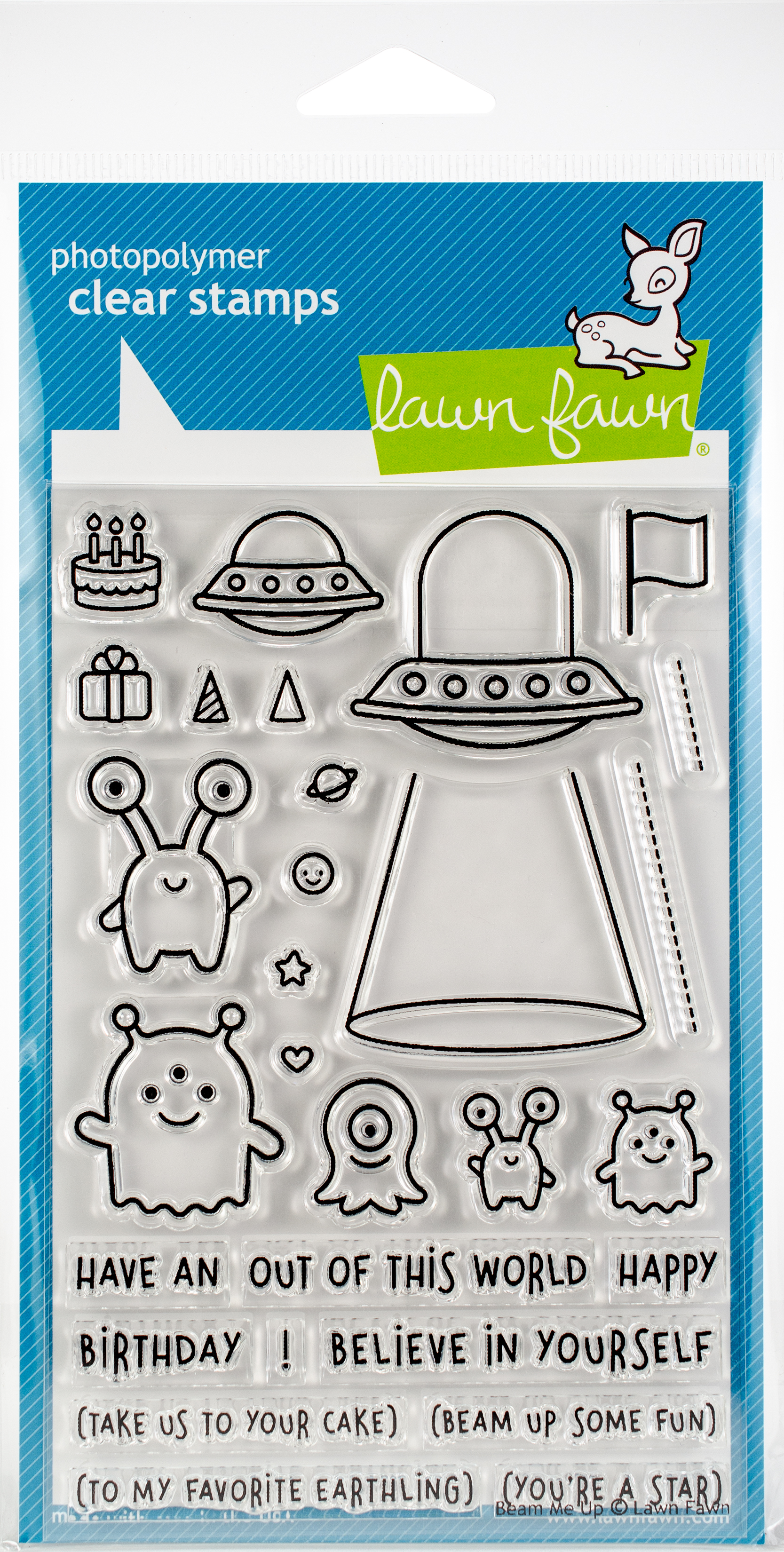 Lawn Fawn Clear Stamps 4X6-Beam Me Up