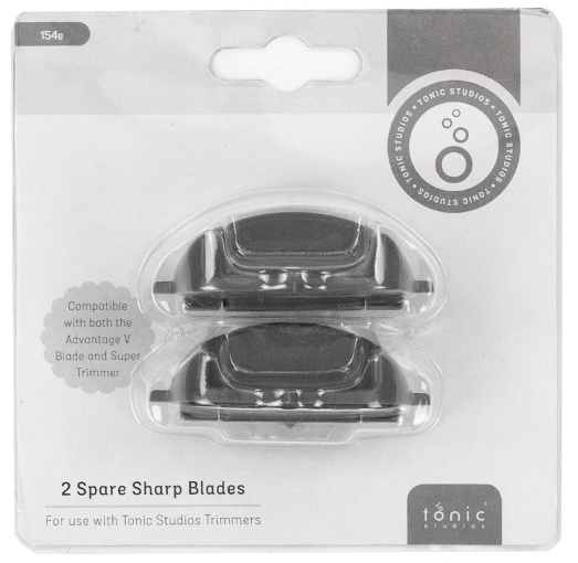 Tonic Studios Super Trimmer Replacement Blades 2/Pkg-Straight; For 604 & 159E
