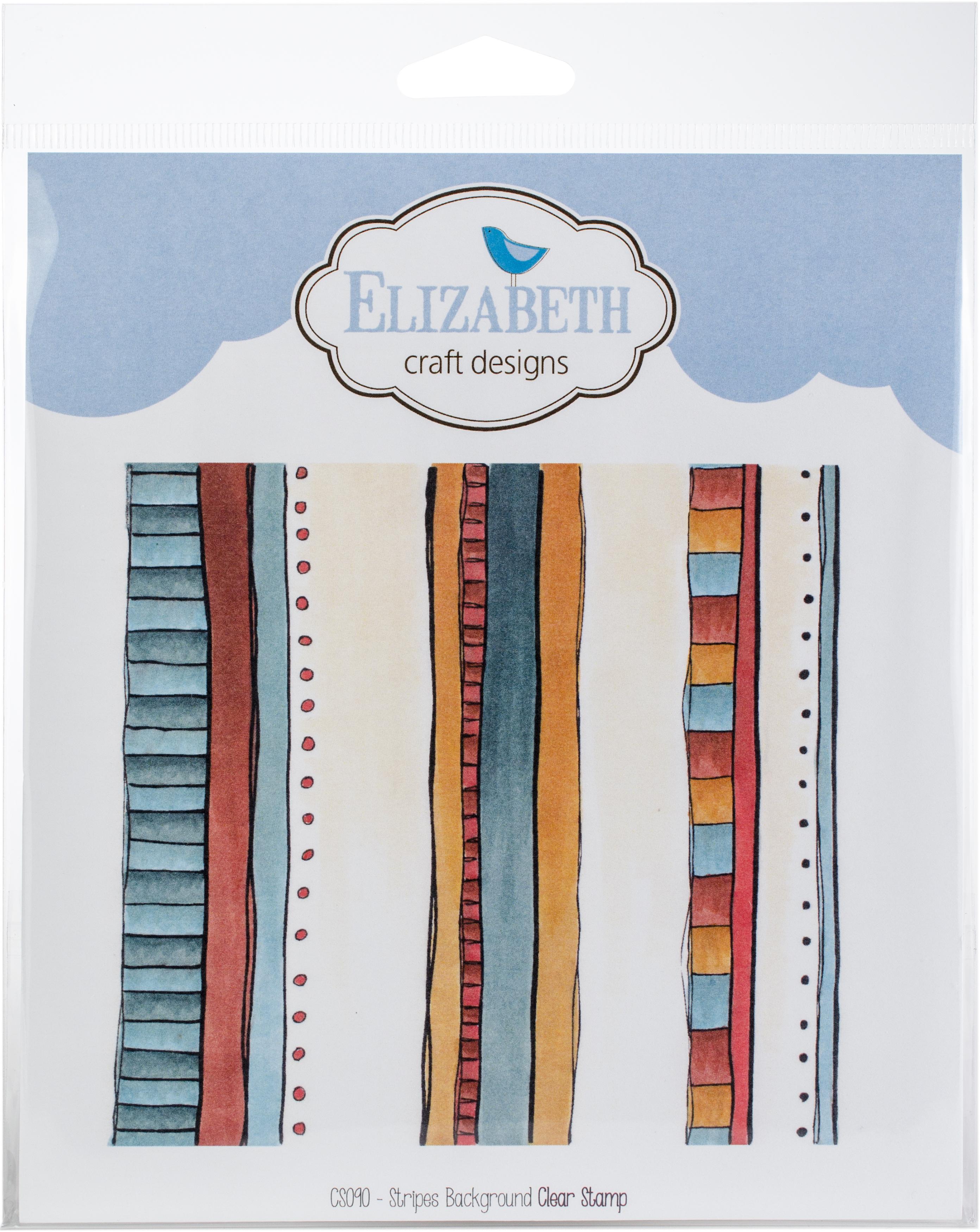 Elizabeth Craft Clear Stamps-Stripes Background