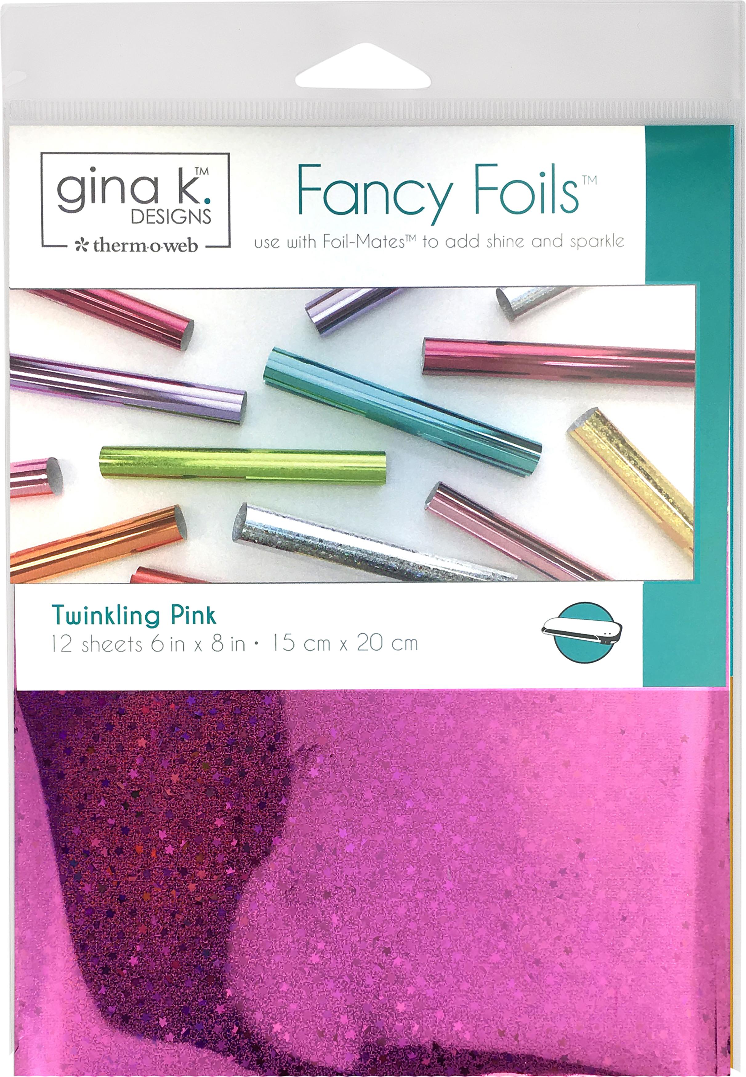 Gina K Designs Fancy Foil 6X8 12/Pkg-Twinkling Pink Holographic