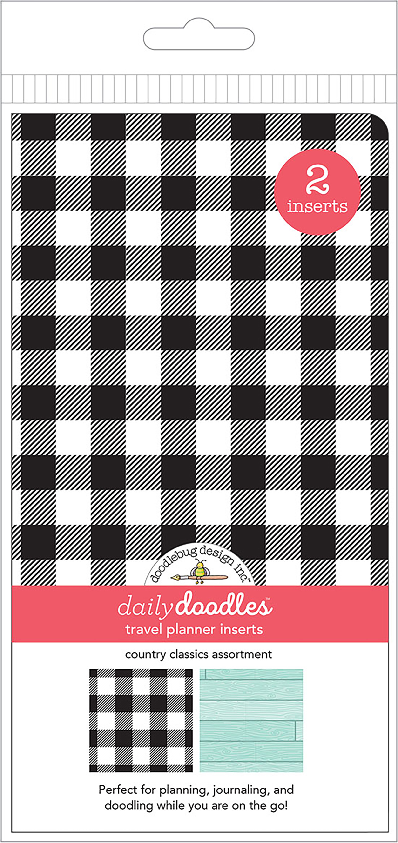Doodlebug Daily Doodles - Country Classics Travel Planner Inserts, 2/Pack
