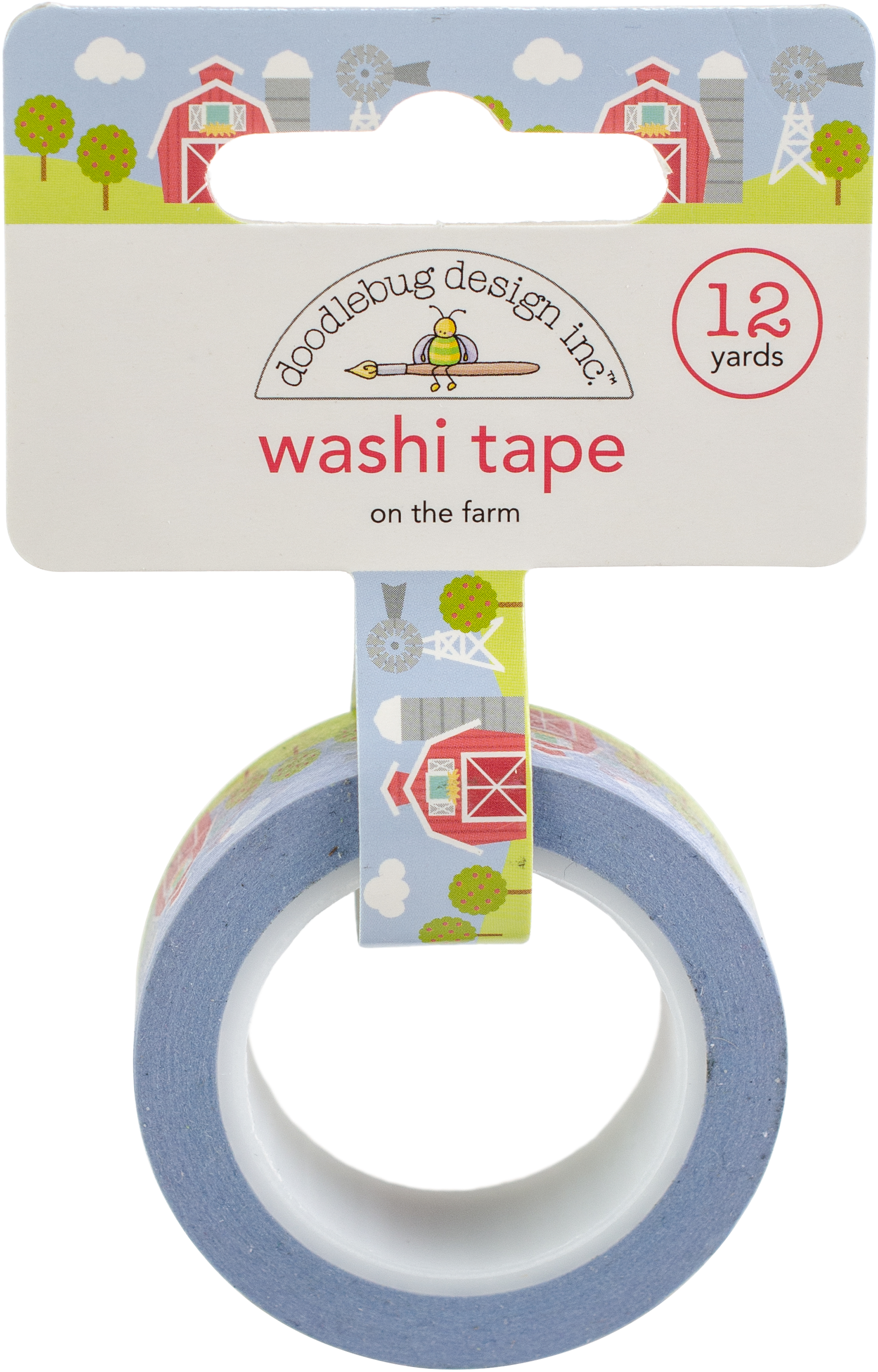 Doodlebug Washi Tape 15mmX12yd-On The Farm