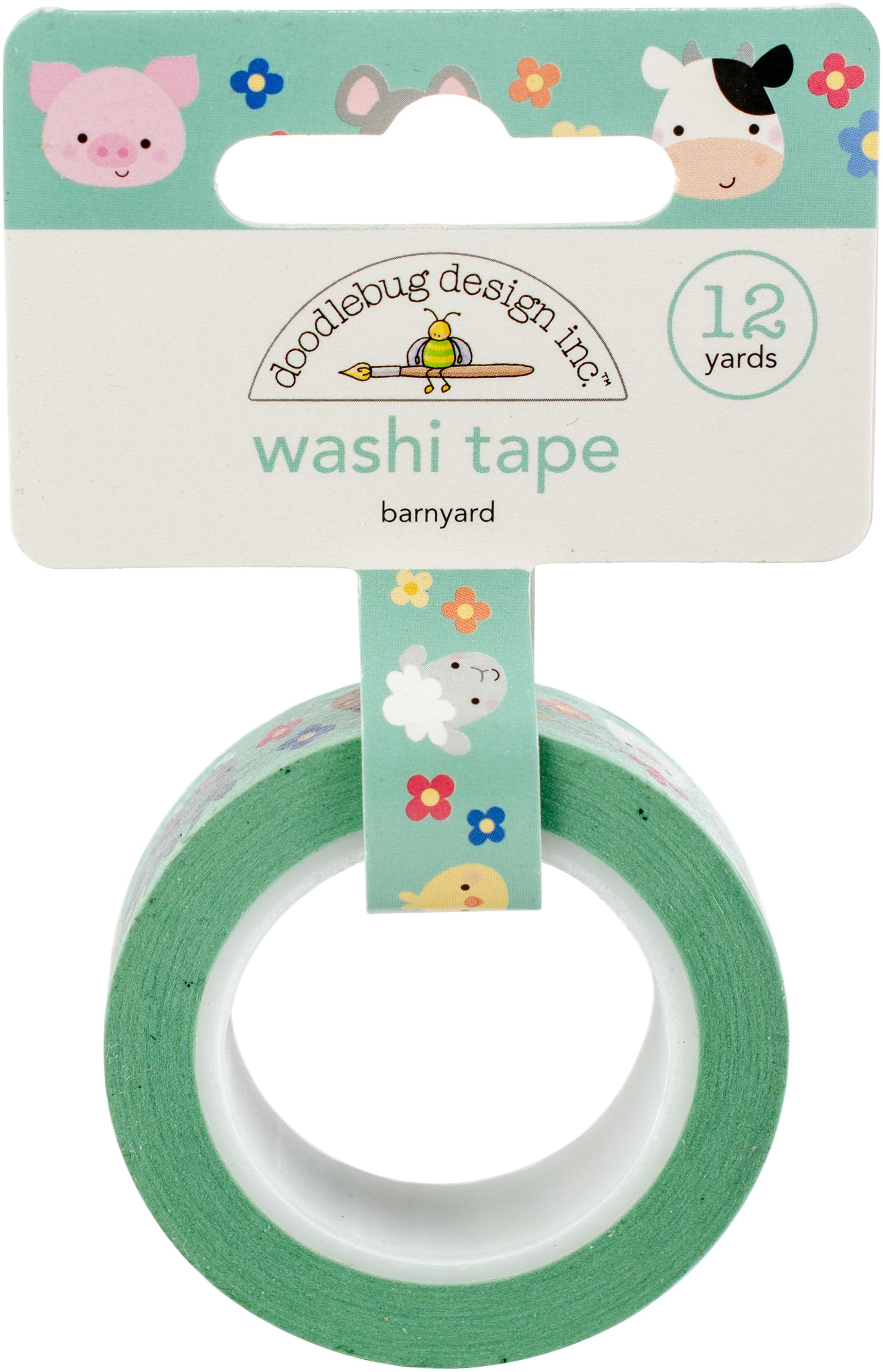 Doodlebug Washi Tape 15mmX12yd-Barnyard