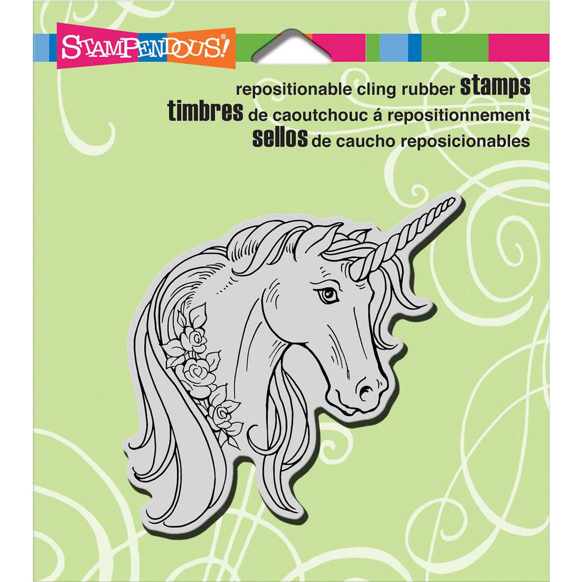 Stampendous Cling Stamp -Unicorn Rose