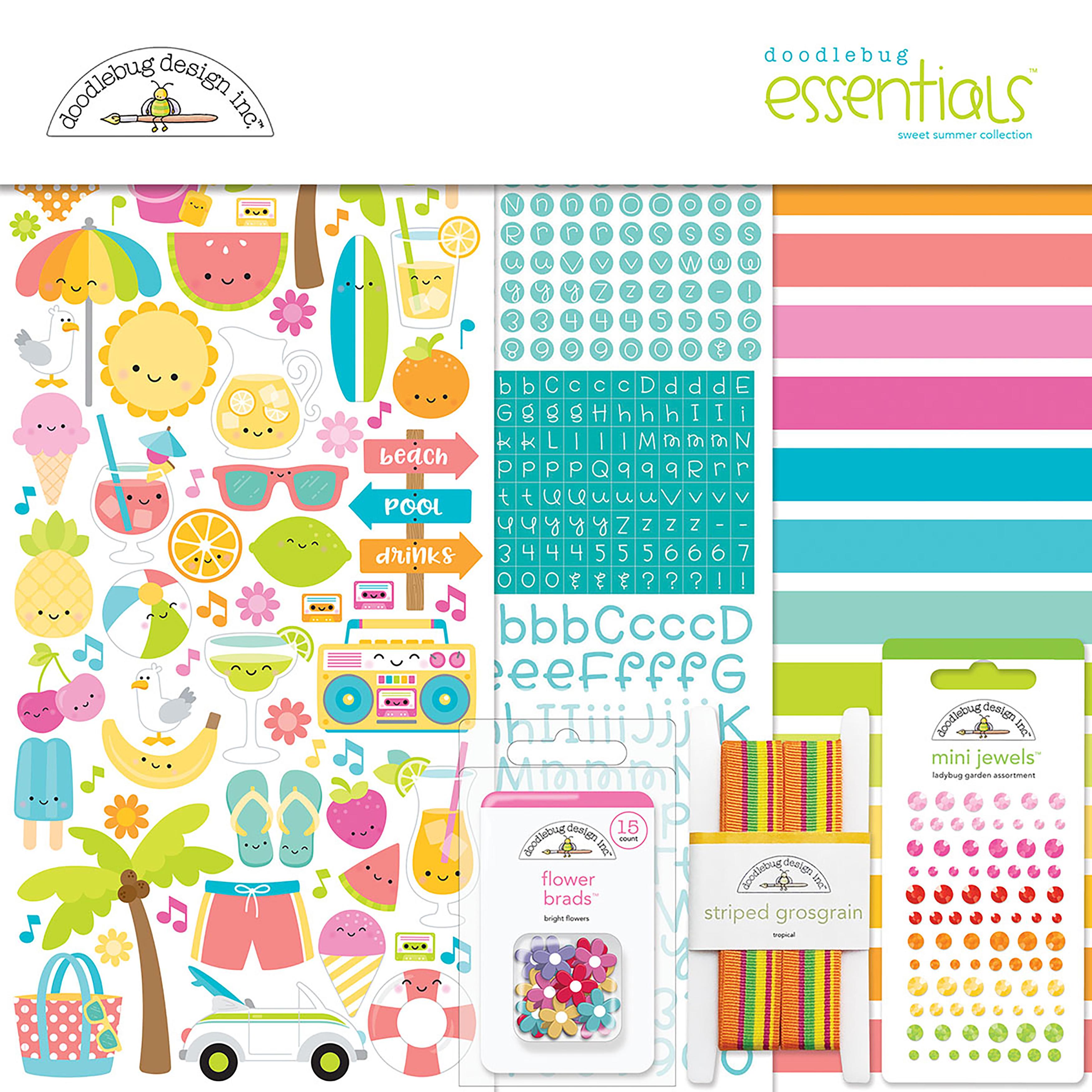 ^Doodlebug Essentials Page Kit - Sweet Summer