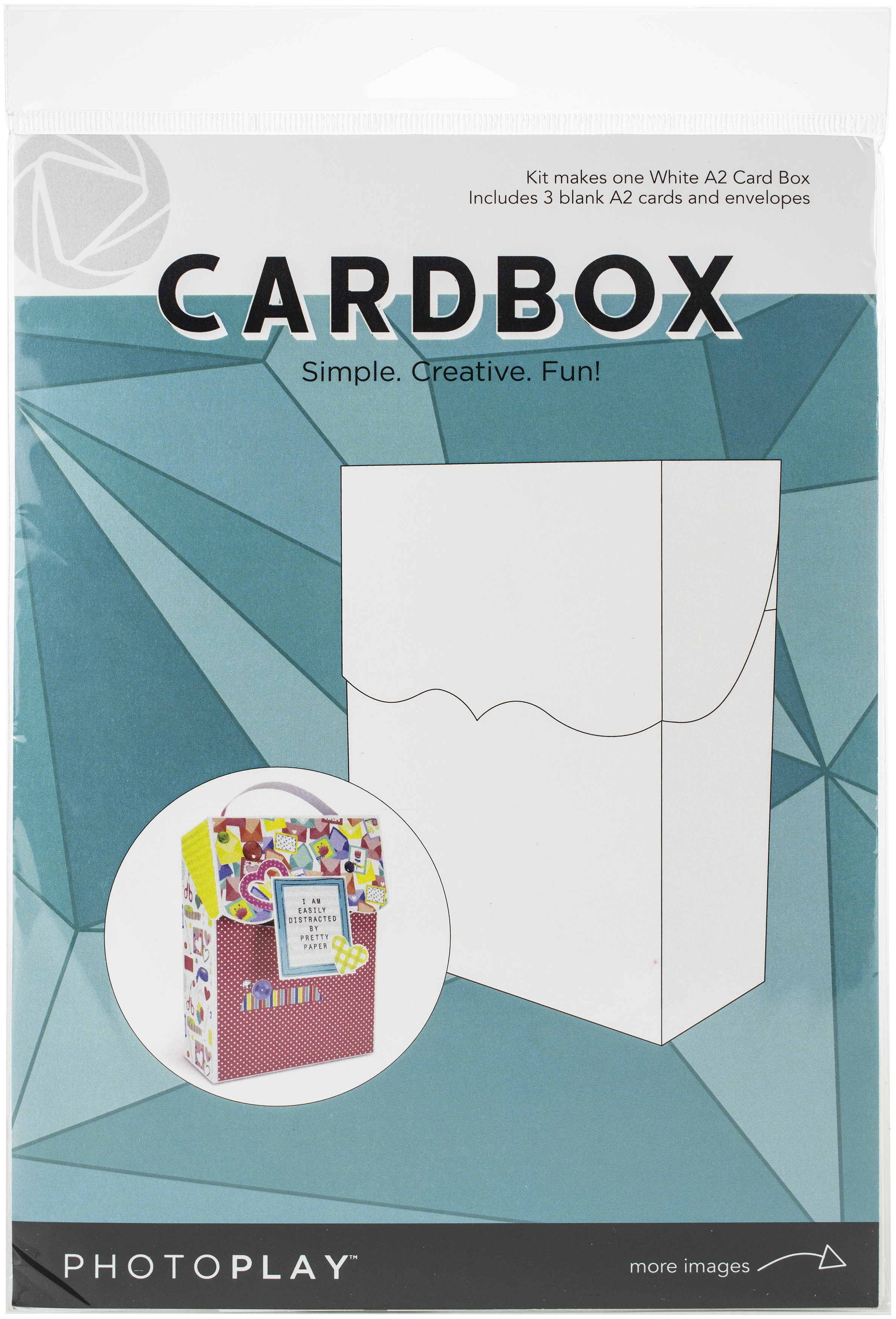 Photoplay A2 Cardbox W/3 Cards & Envelopes-White