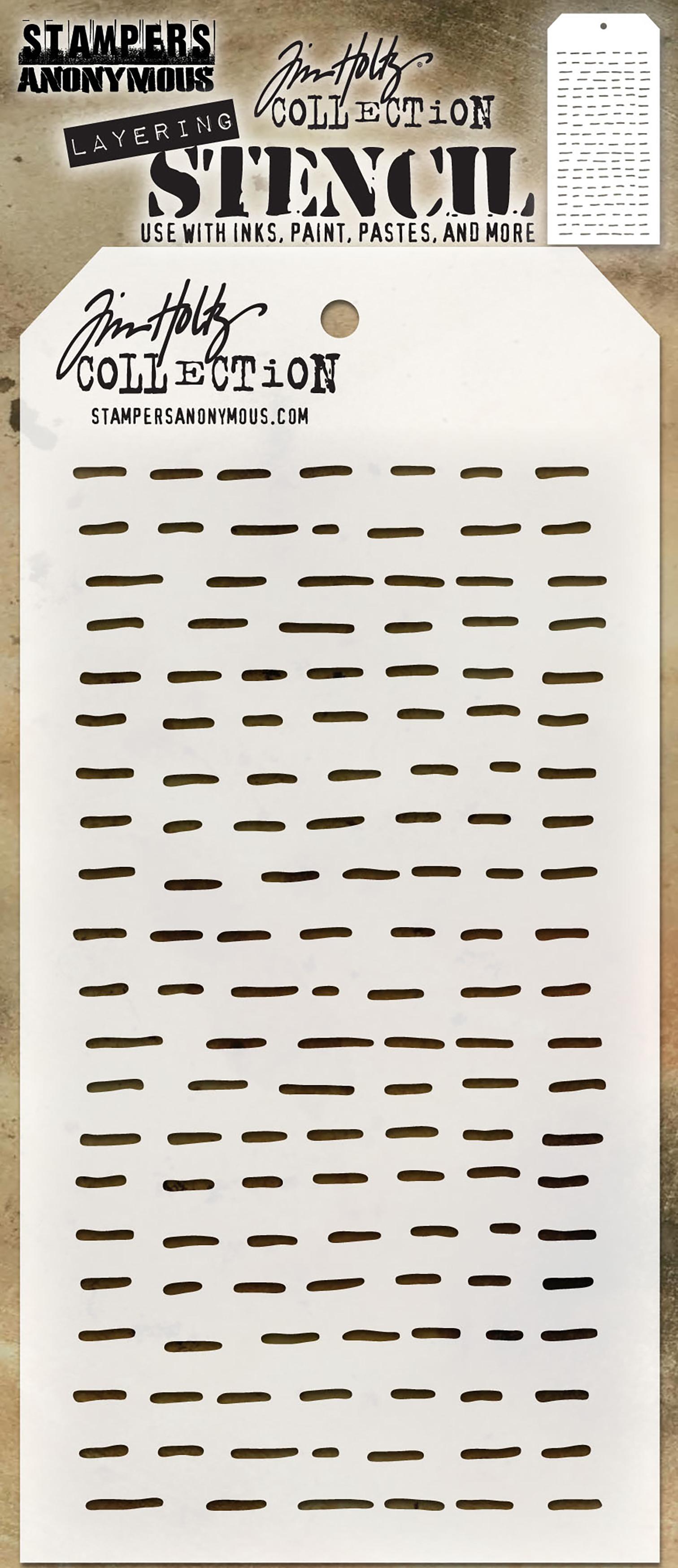 Tim Holtz Layered Stencil 4.125X8.5-Dashes