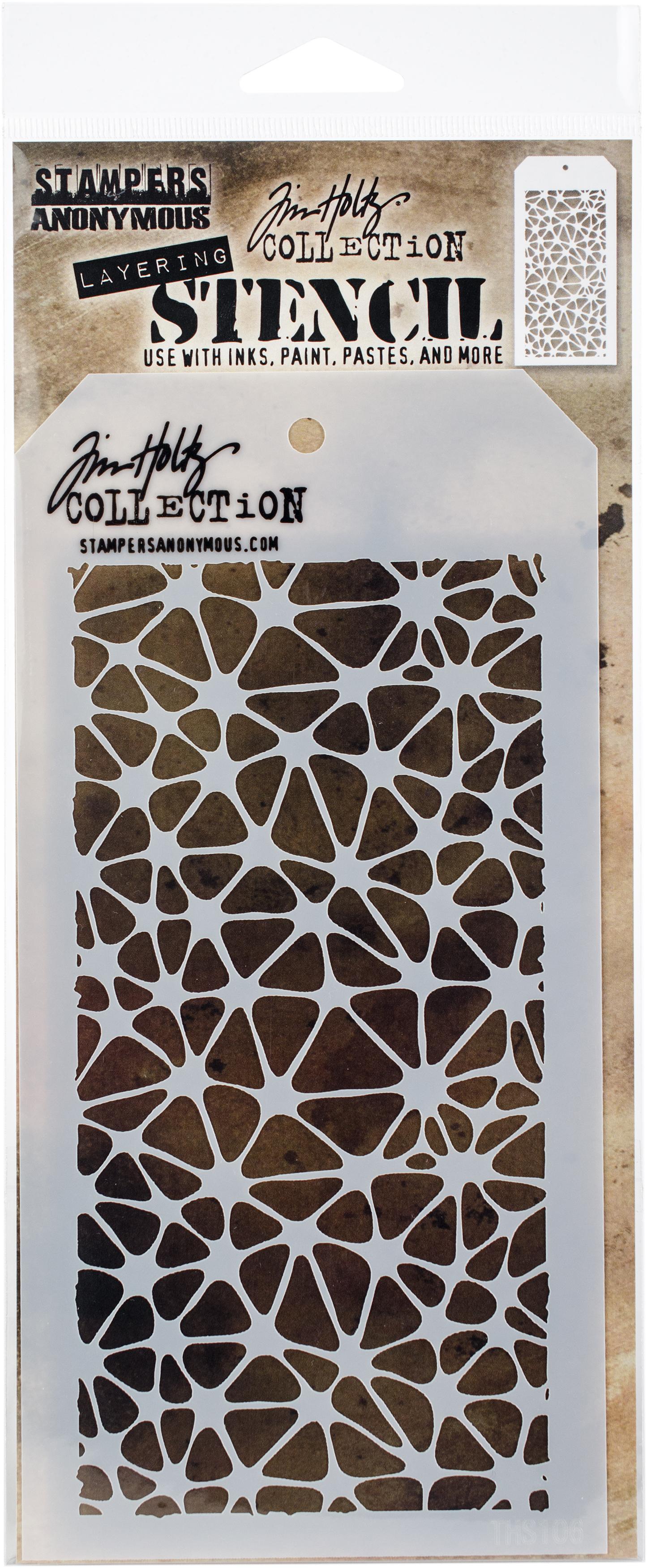 Tim Holtz Layered Stencil 4.125X8.5-Organic