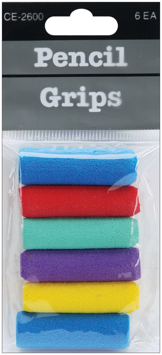 Foam Pencil Grips 6/Pkg-Assorted Colors