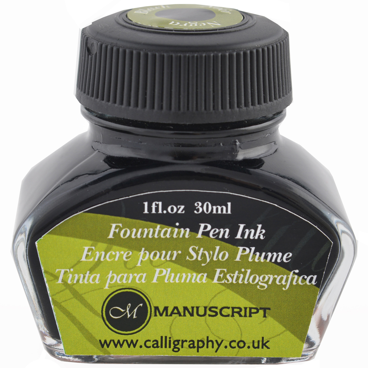Manuscript Master Fountain Pen Ink 30ml-Black