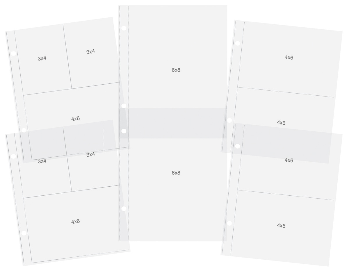Simple Stories Sn@p! Pocket Pages For 6X8 Binders 12/Pkg-Variety Pack