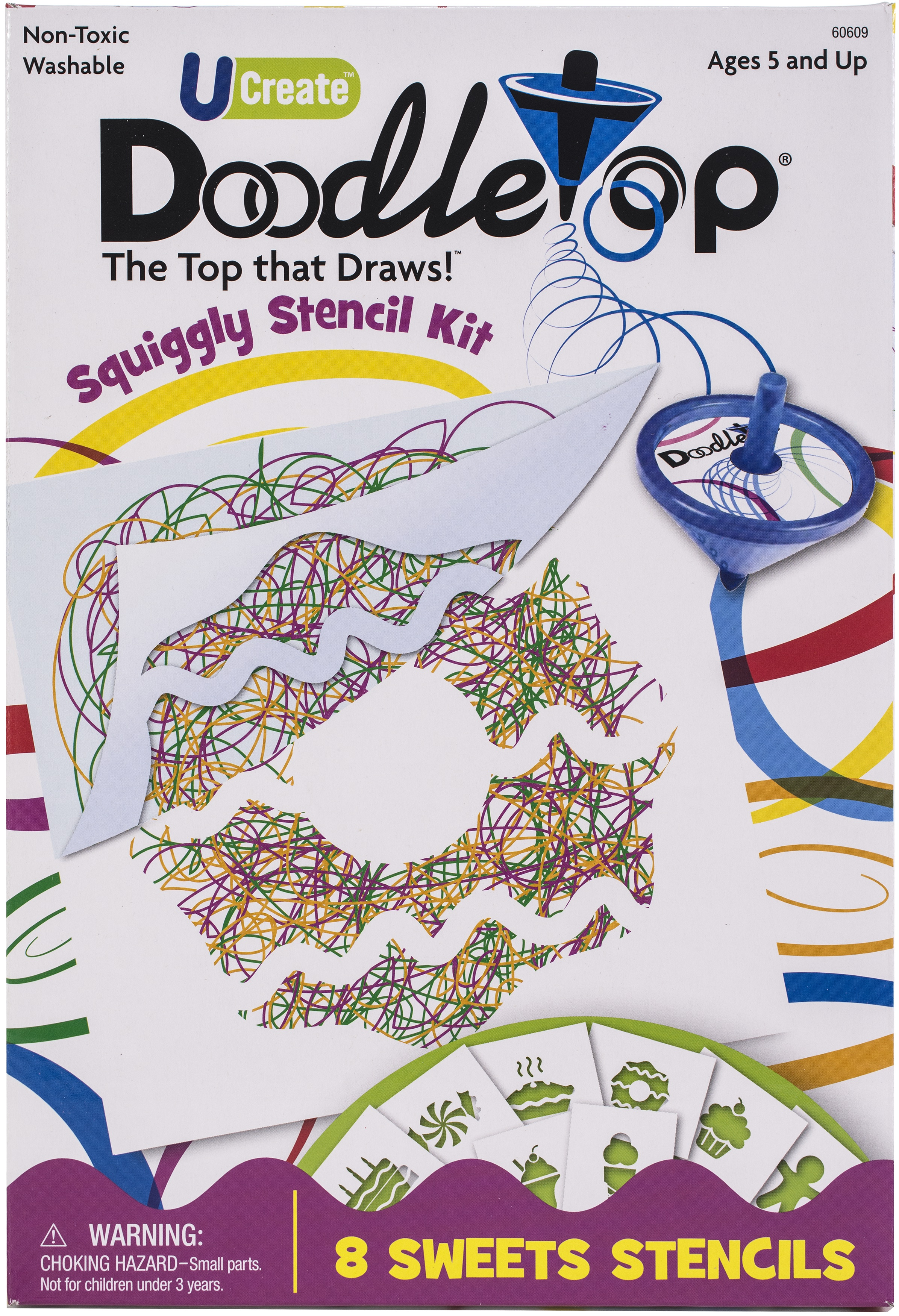 UCreate Doodletop Squiggly Stencil Kit-Sweets