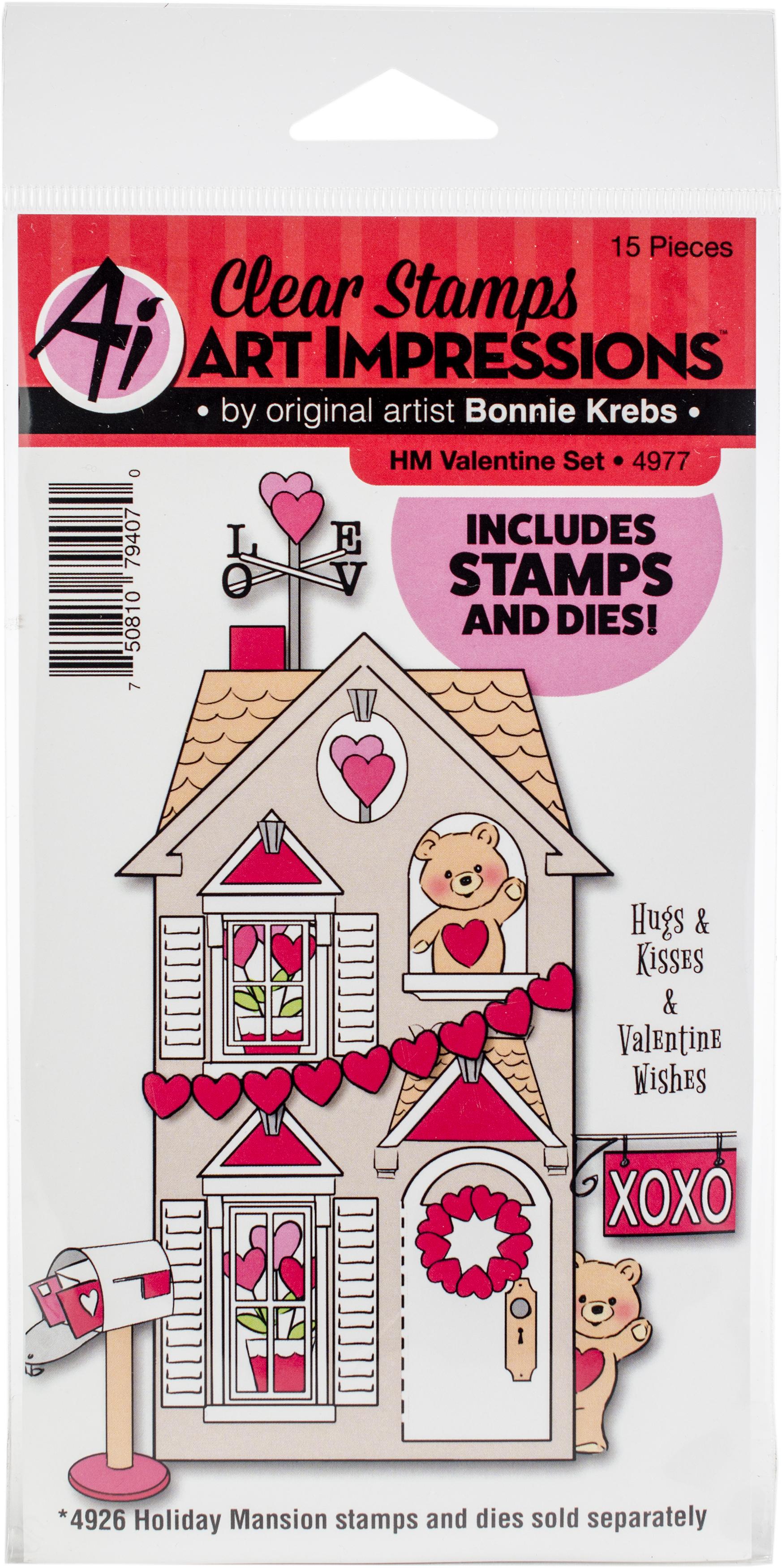 Art Impressions Holiday Mansion Stamp & Die Set-Valentine