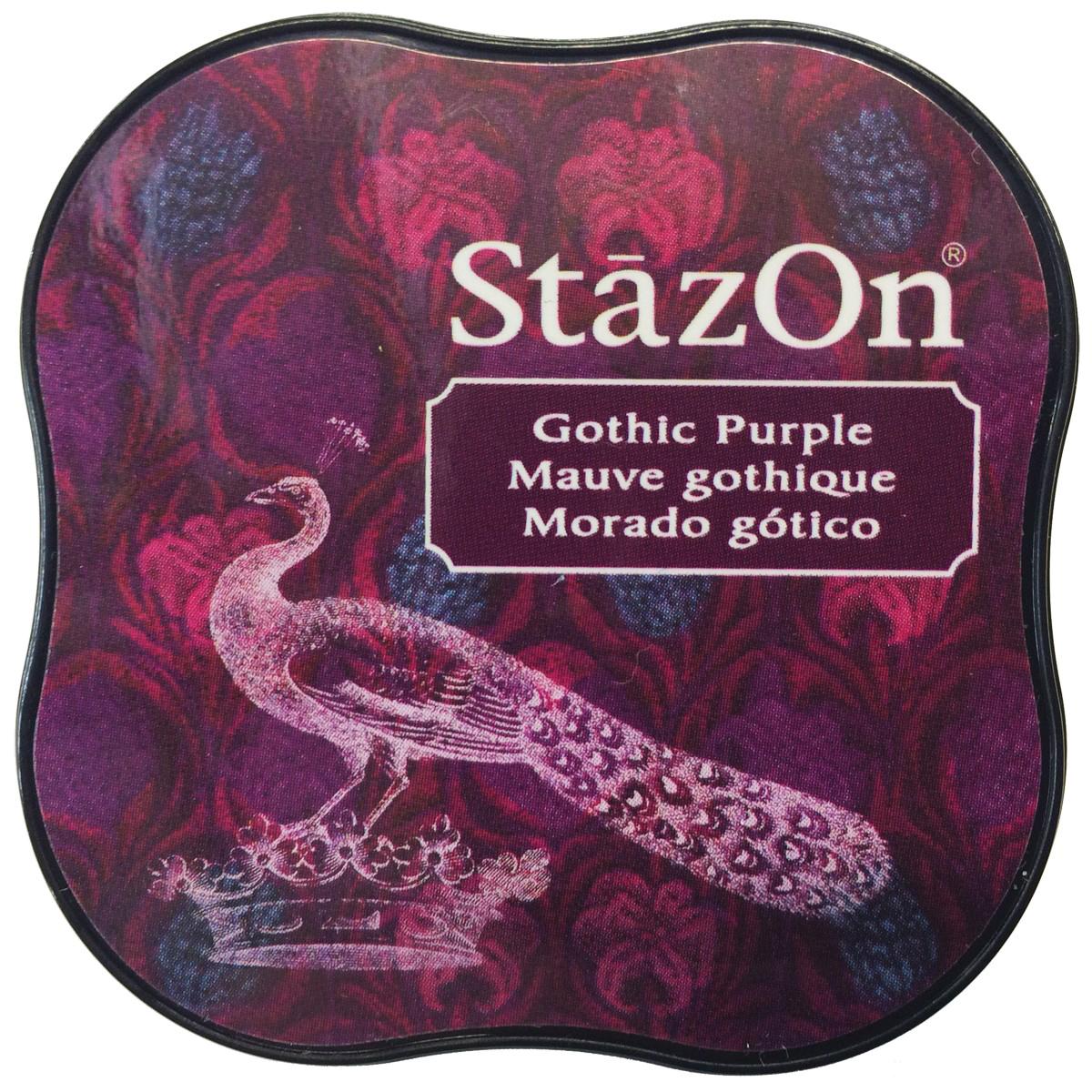 StazOn Midi Ink Pad-Gothic Purple