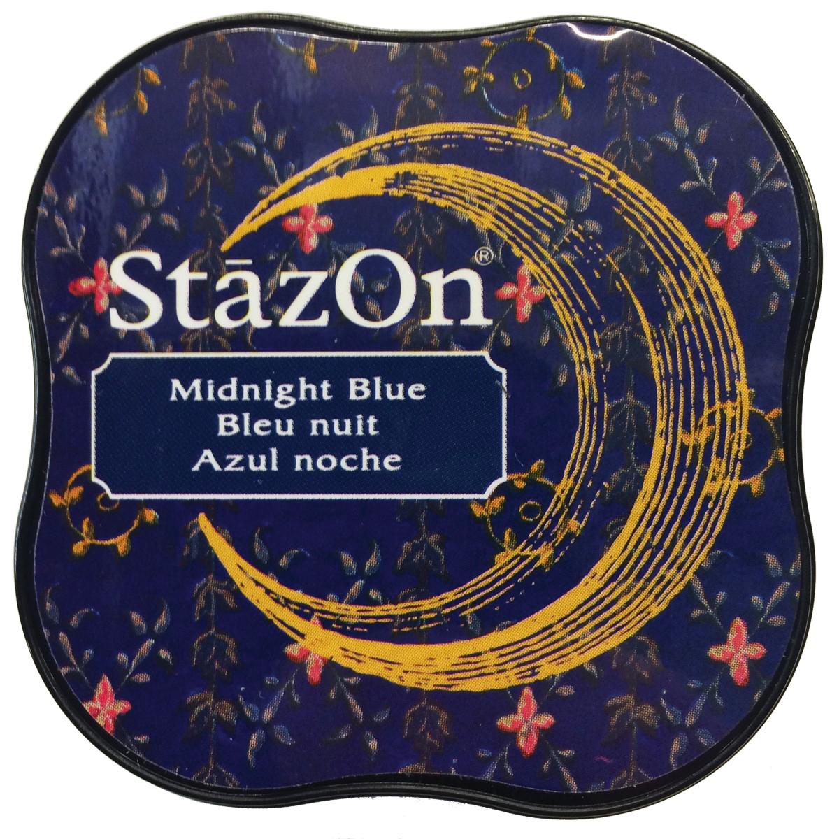 StazOn Midi Ink Pad-Midnight Blue