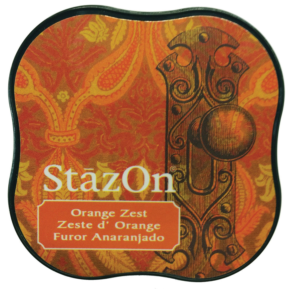StazOn Midi Ink Pad-Orange Zest