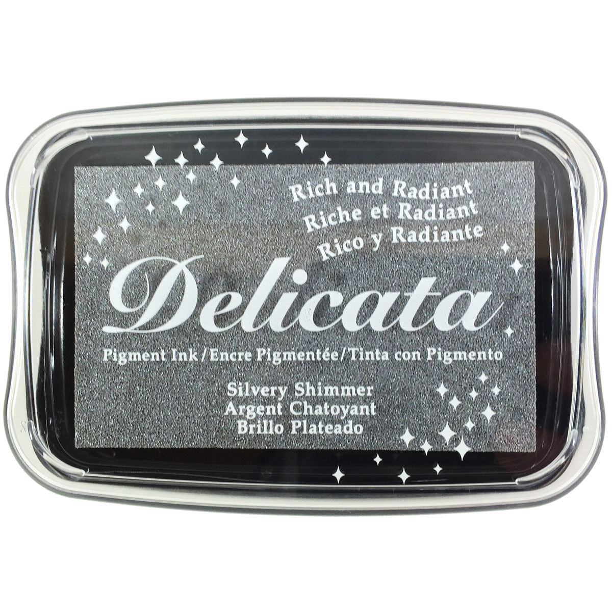 Delicata Pigment Ink Pad-Silvery Shimmer