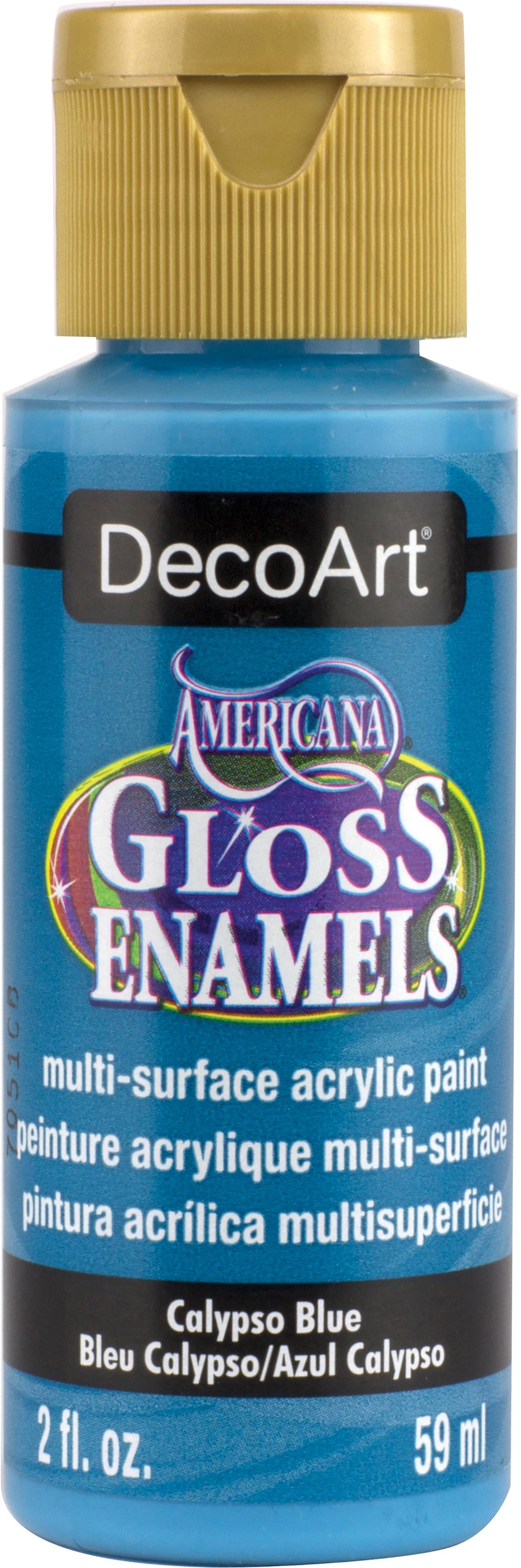 Americana Gloss Enamels Acrylic Paint 2oz-Calypso Blue