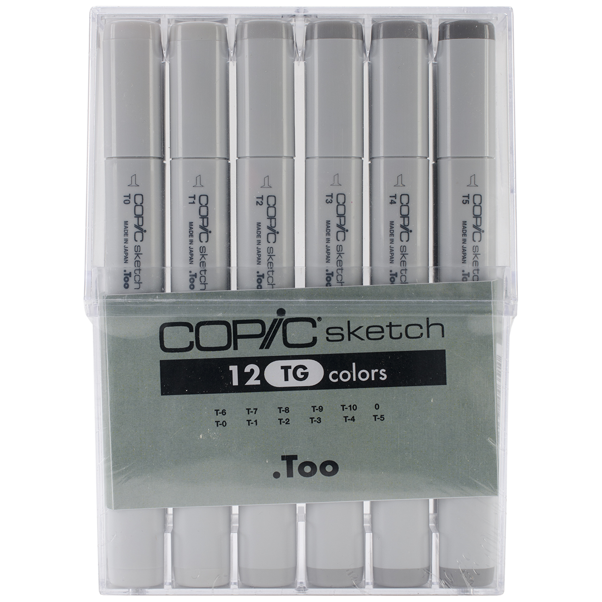 Copic Sketch Markers Set 12/Pkg-Toner Gray