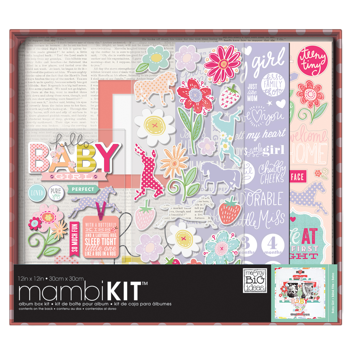 BABY GIRL -BOXED 12X12 ALB KIT