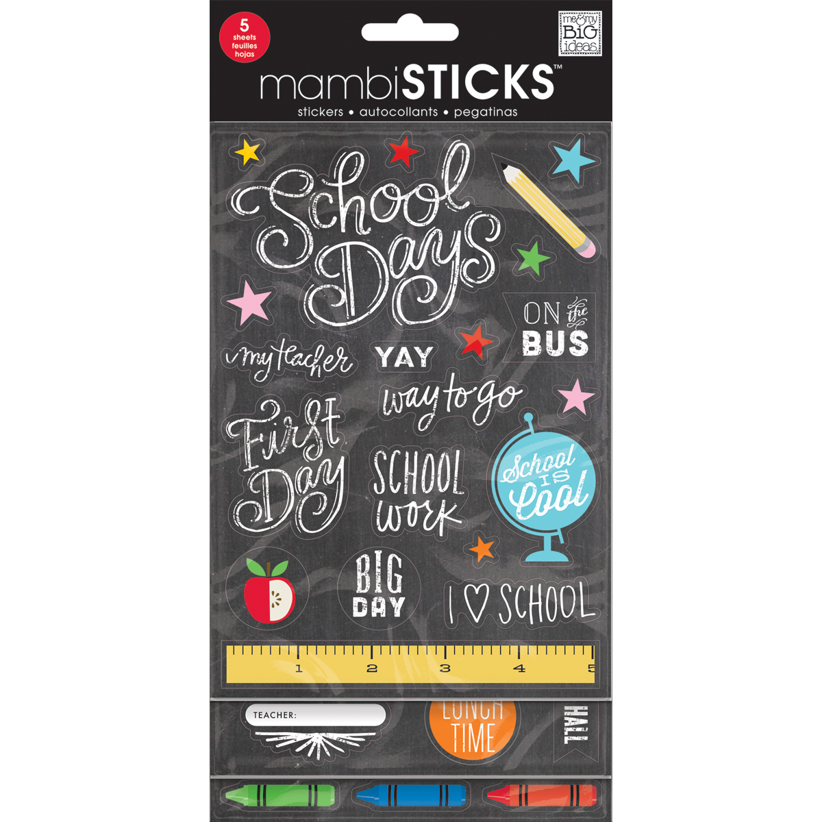 SCHOOL TODAY-GLITTER VALUE STCKER