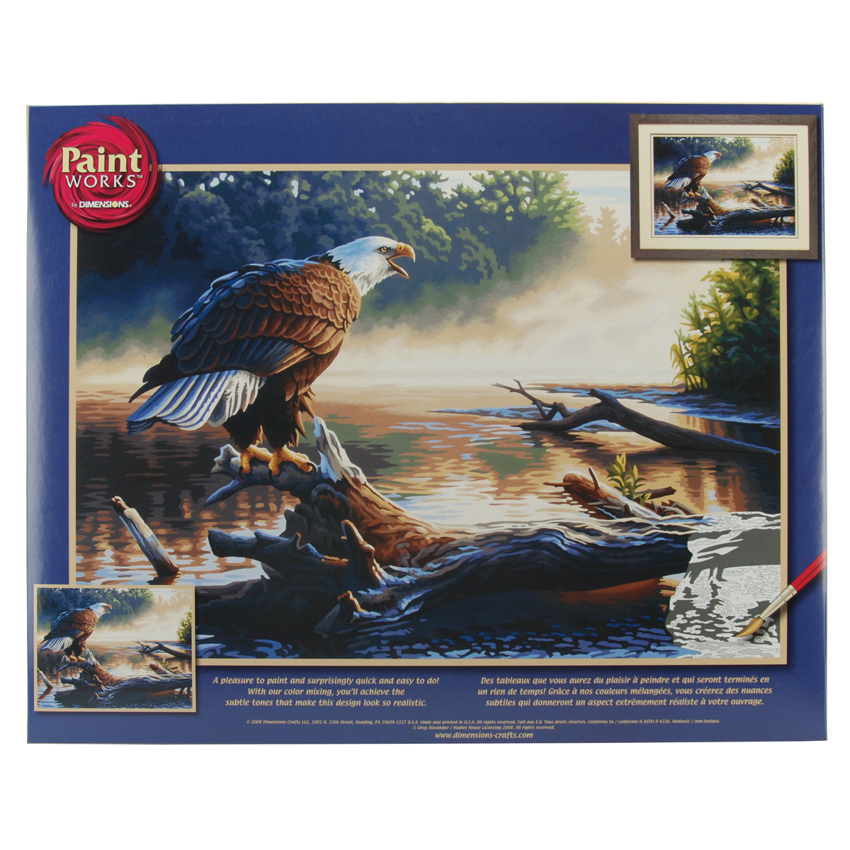 Paint Works Paint By Number Kit 20X14-Eagle Hunter