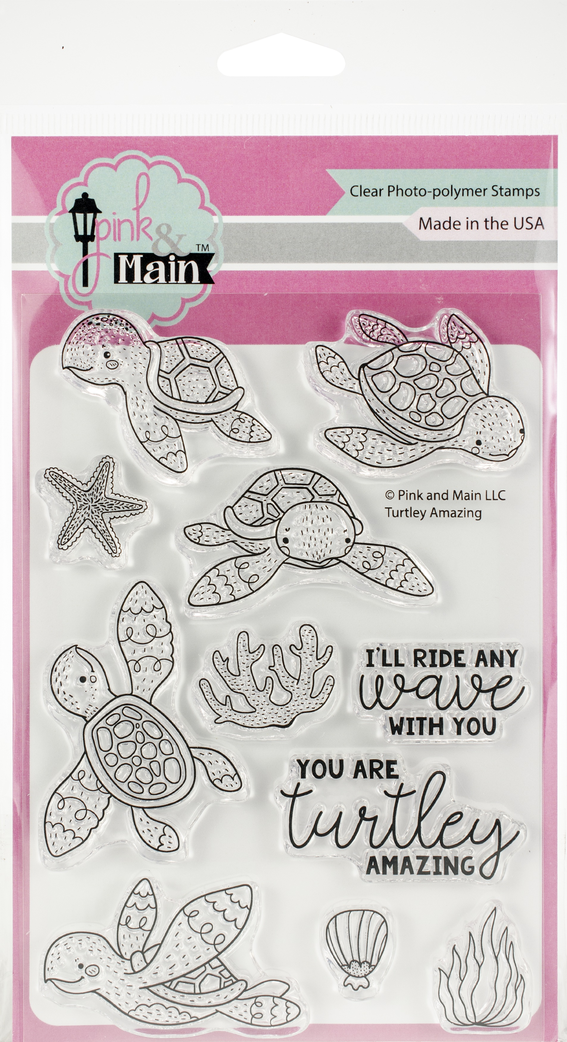 Pink & Main Clear Stamps 4X6-Turtley Amazing