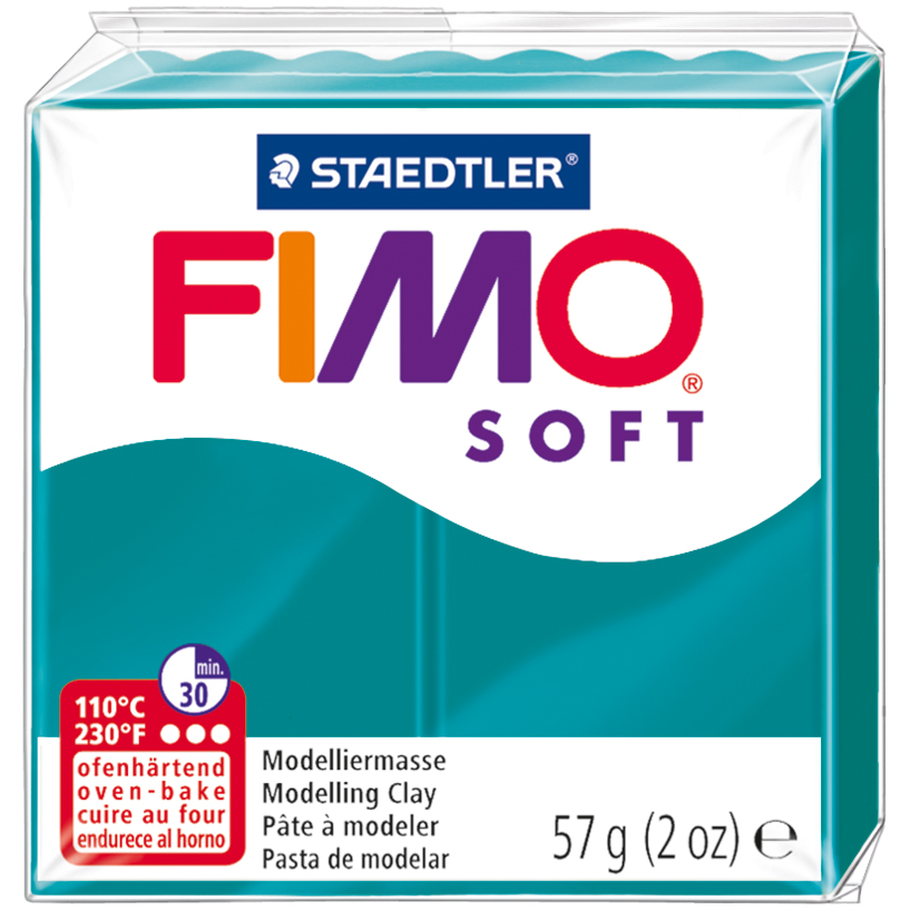 Fimo Soft Polymer Clay 2oz-Pacific Blue