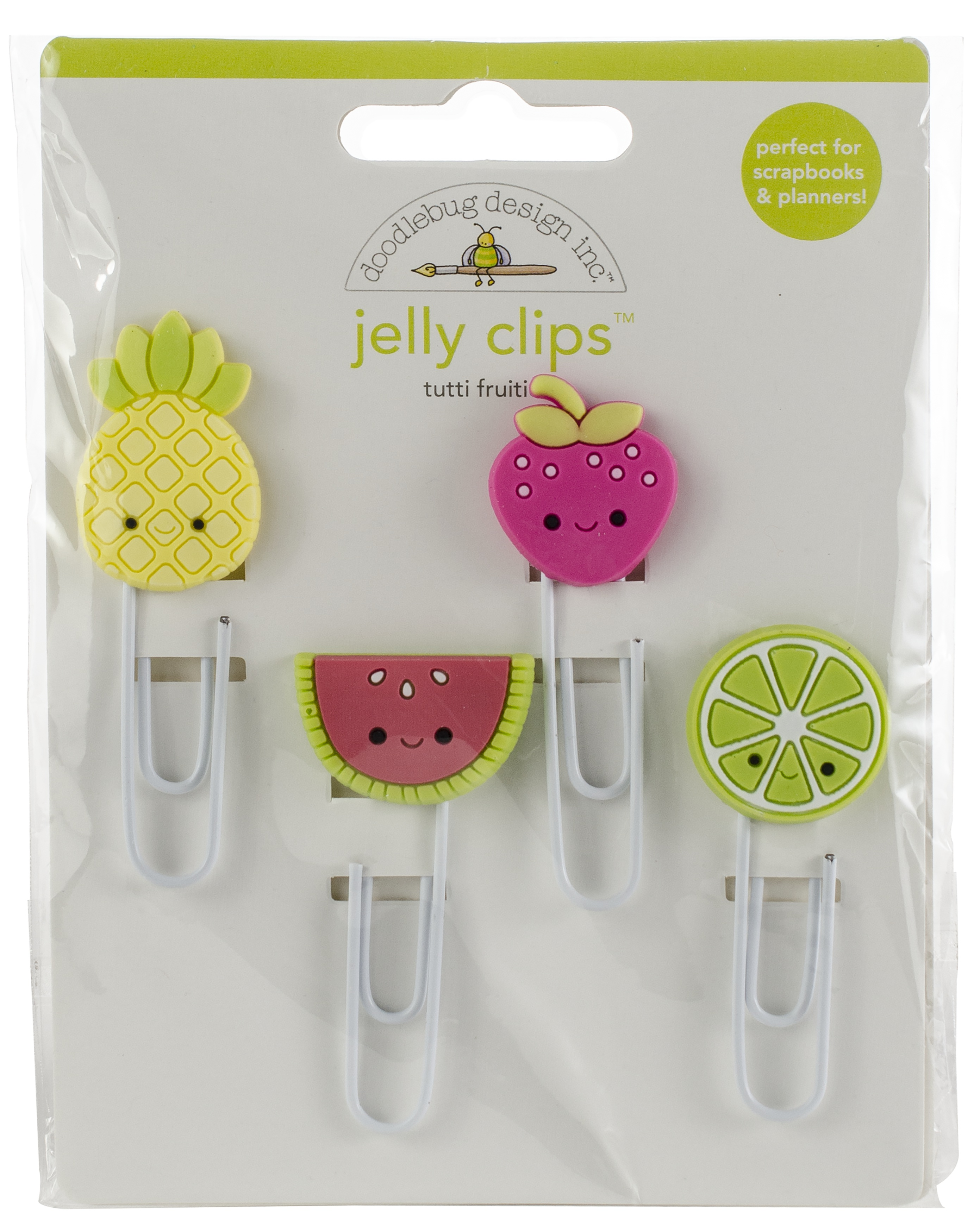 Doodlebug Jelly Clips 4/Pkg-Tutti Fruities