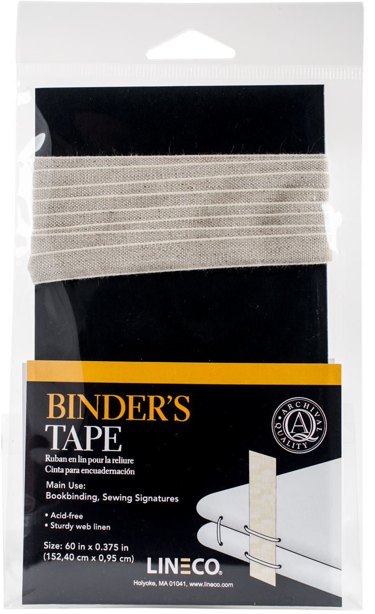 Lineco Binding Tape-Closely Woven Linen .375X60
