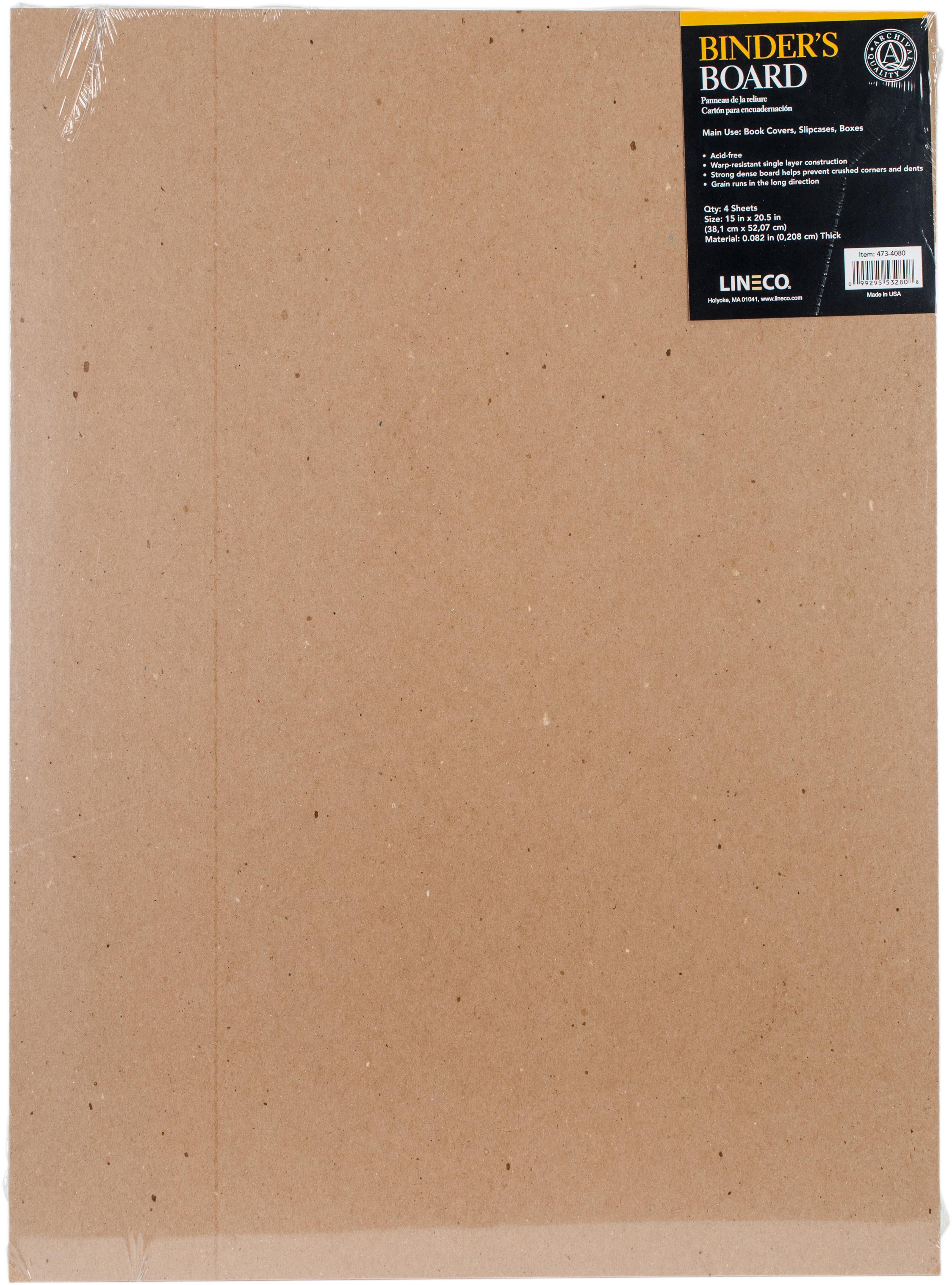 Lineco Binder's Board 4/Pkg-15X20.5X.082 (80 Point)