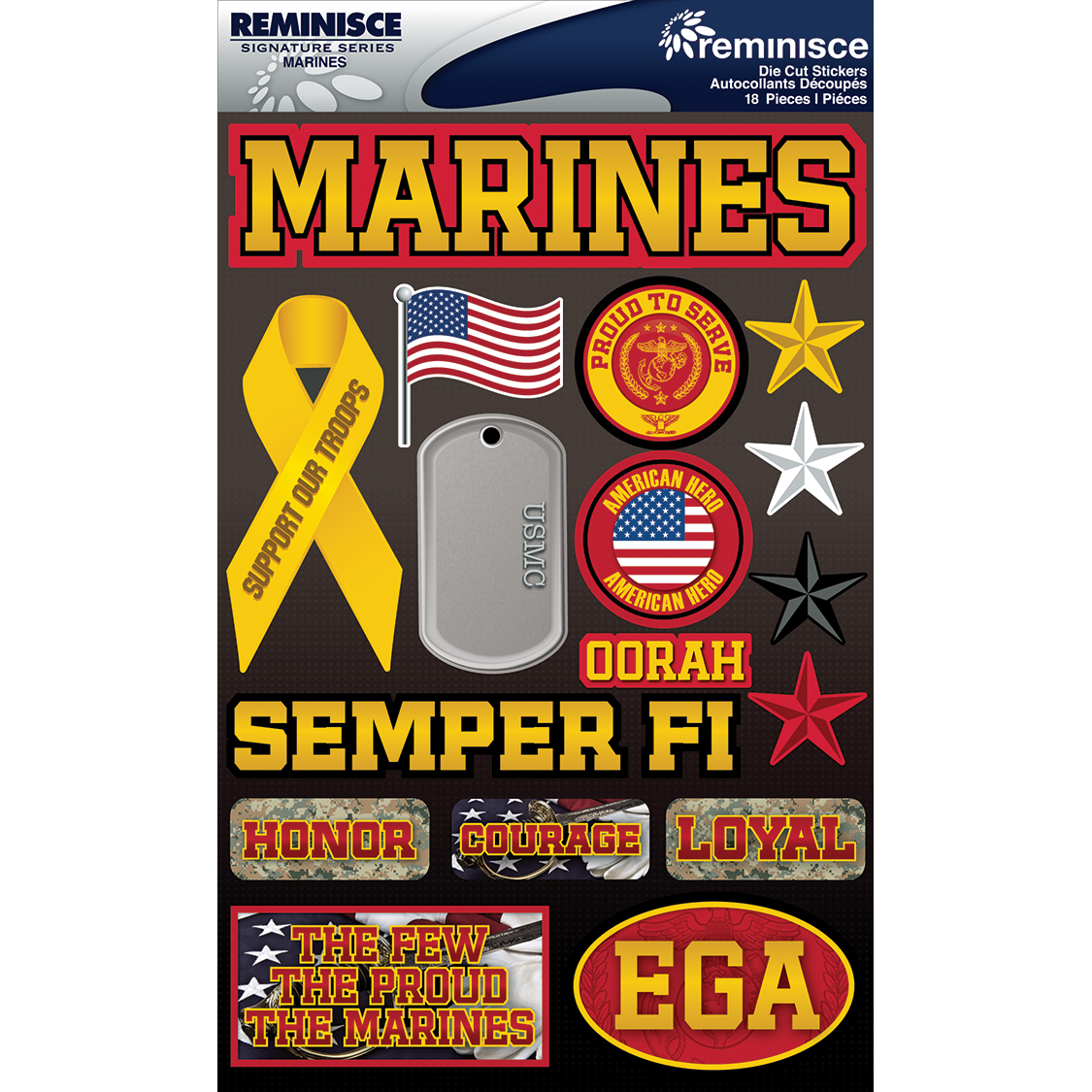 MARINES   -SIGNATURE 3D STICKER