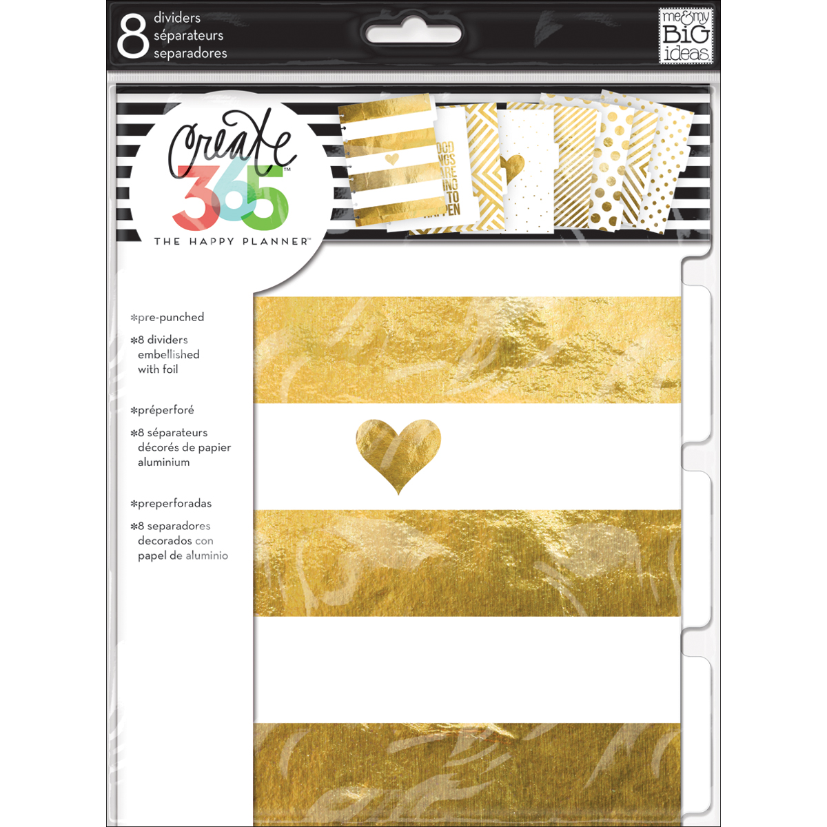 GOLD      -CREATE 365 DIVIDERS