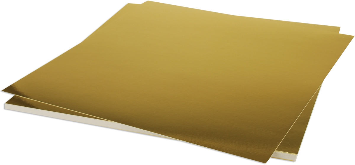 Bazzill 12x12 Foil Cardstock - Gold